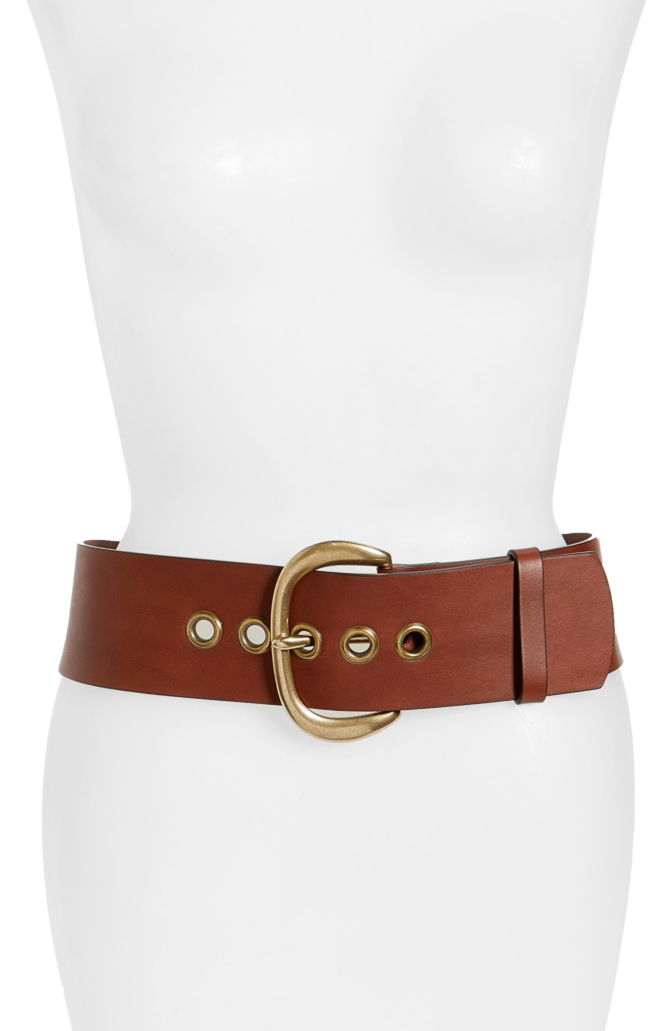 Main Image - Frye Wide Leather Belt (Nordstrom Exclusive)