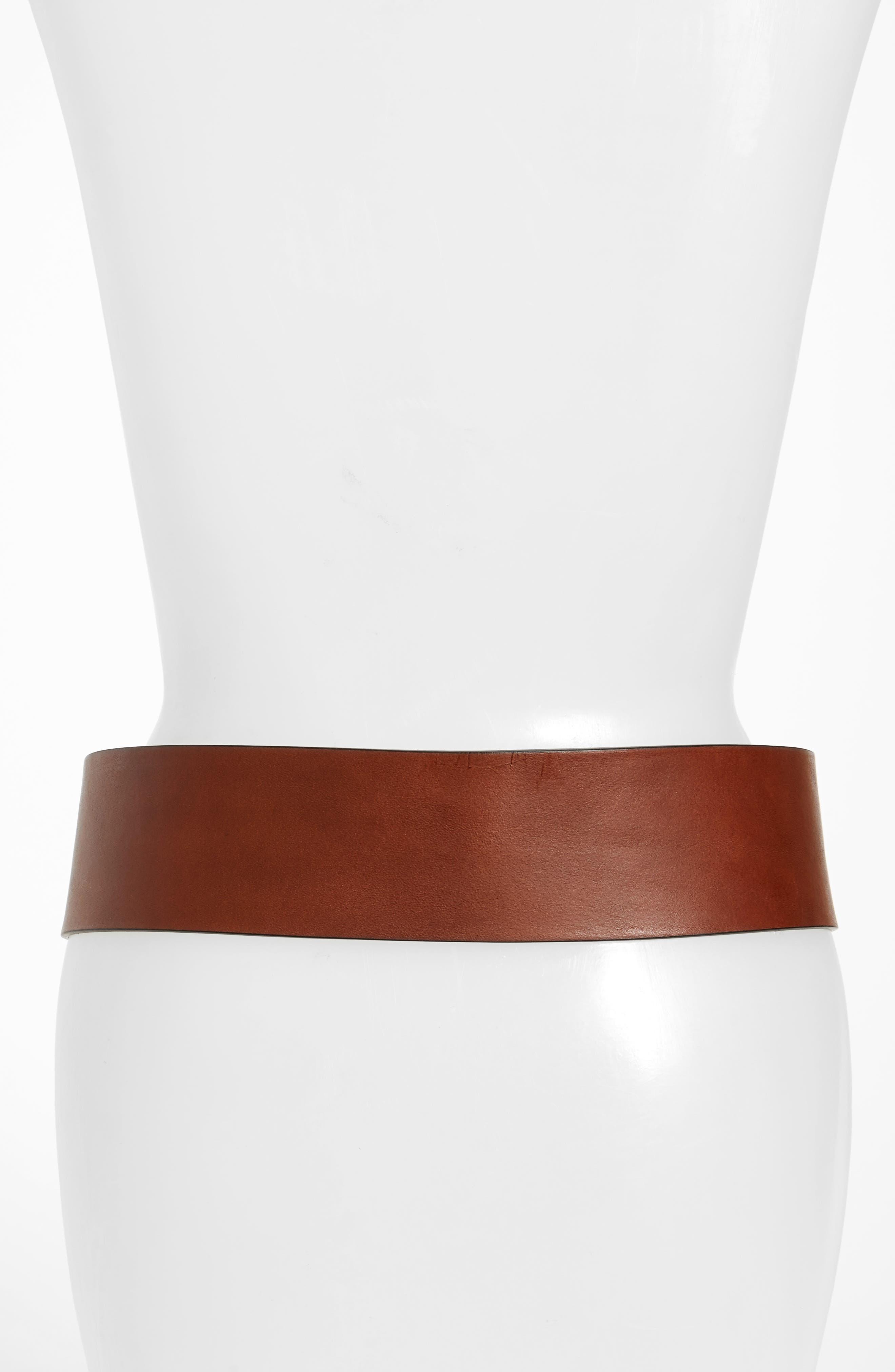 Alternate Image 2  - Frye Wide Leather Belt (Nordstrom Exclusive)