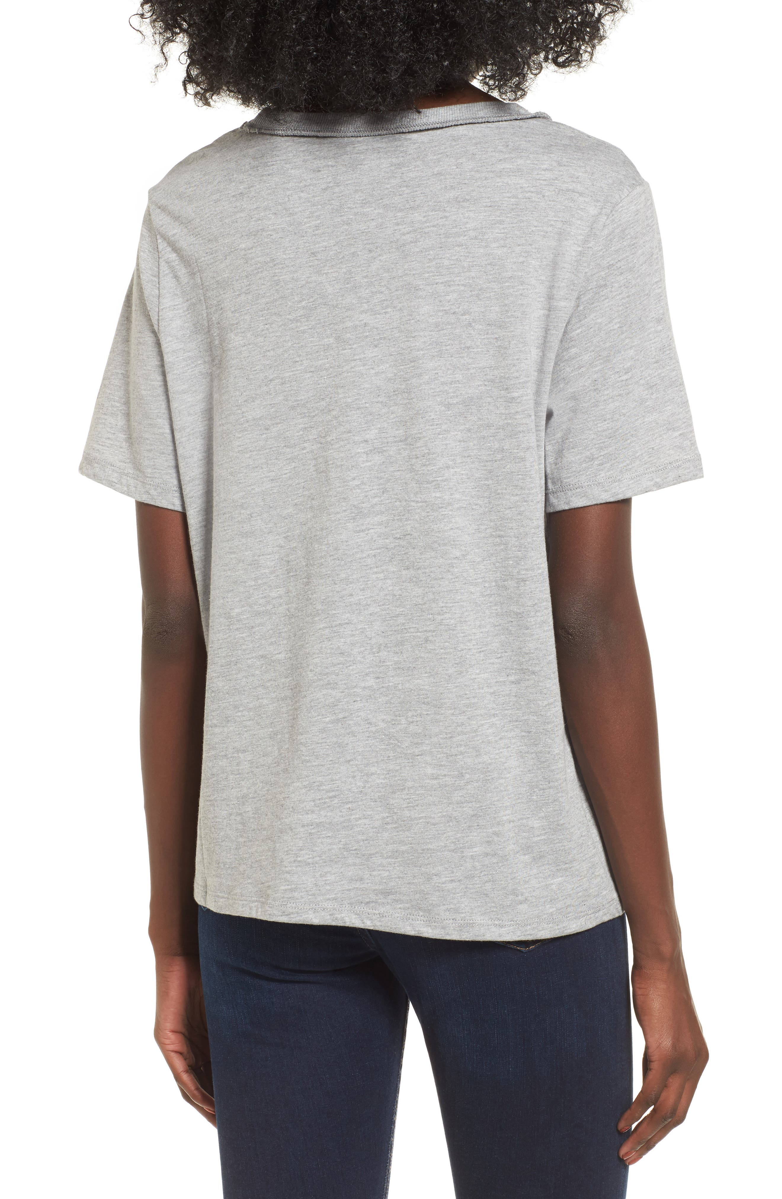 Alternate Image 3  - Topshop Slash Choker Boxy Tee