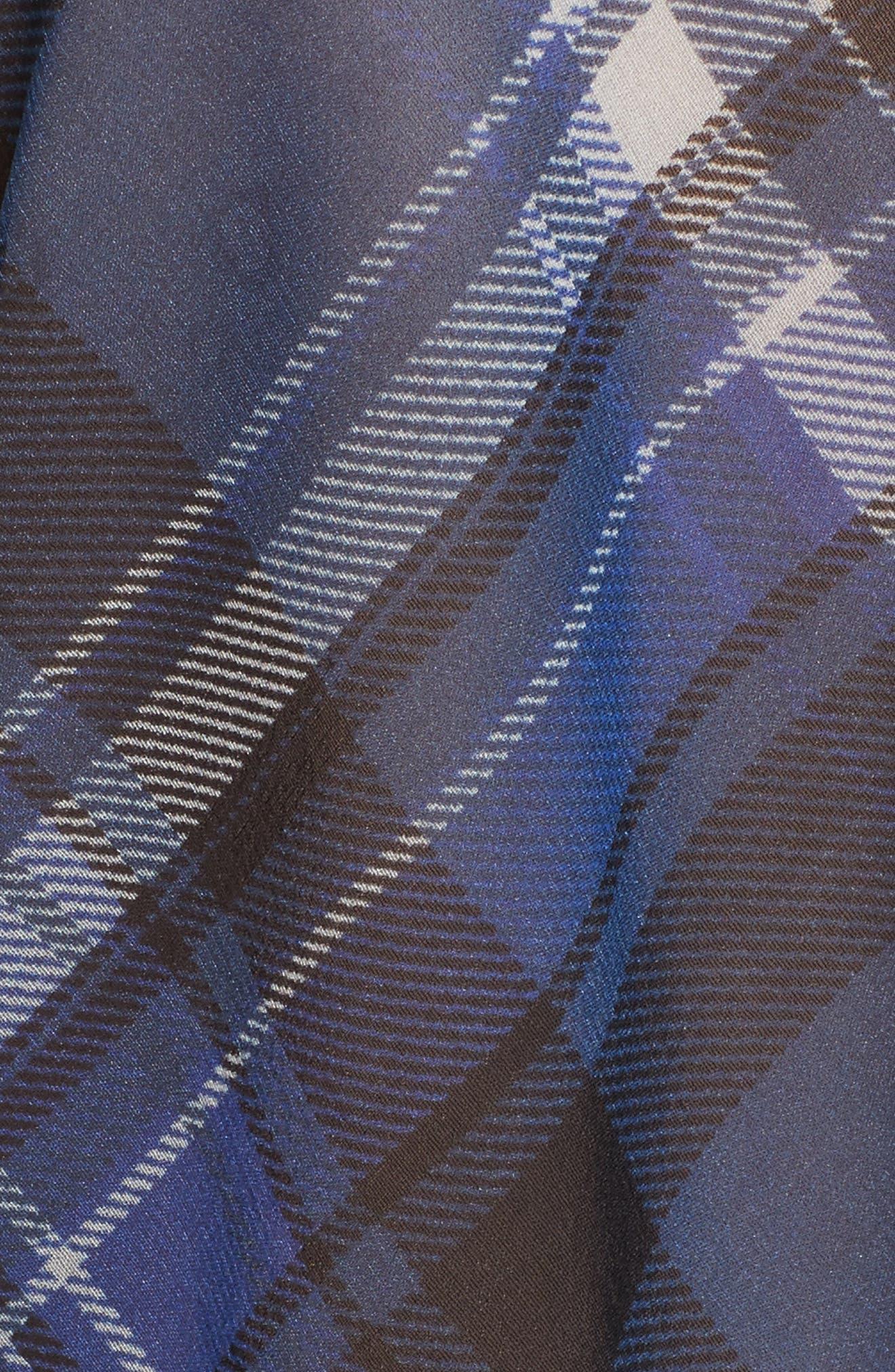 Alternate Image 5  - rag & bone Mason Plaid Stretch Silk Shirt