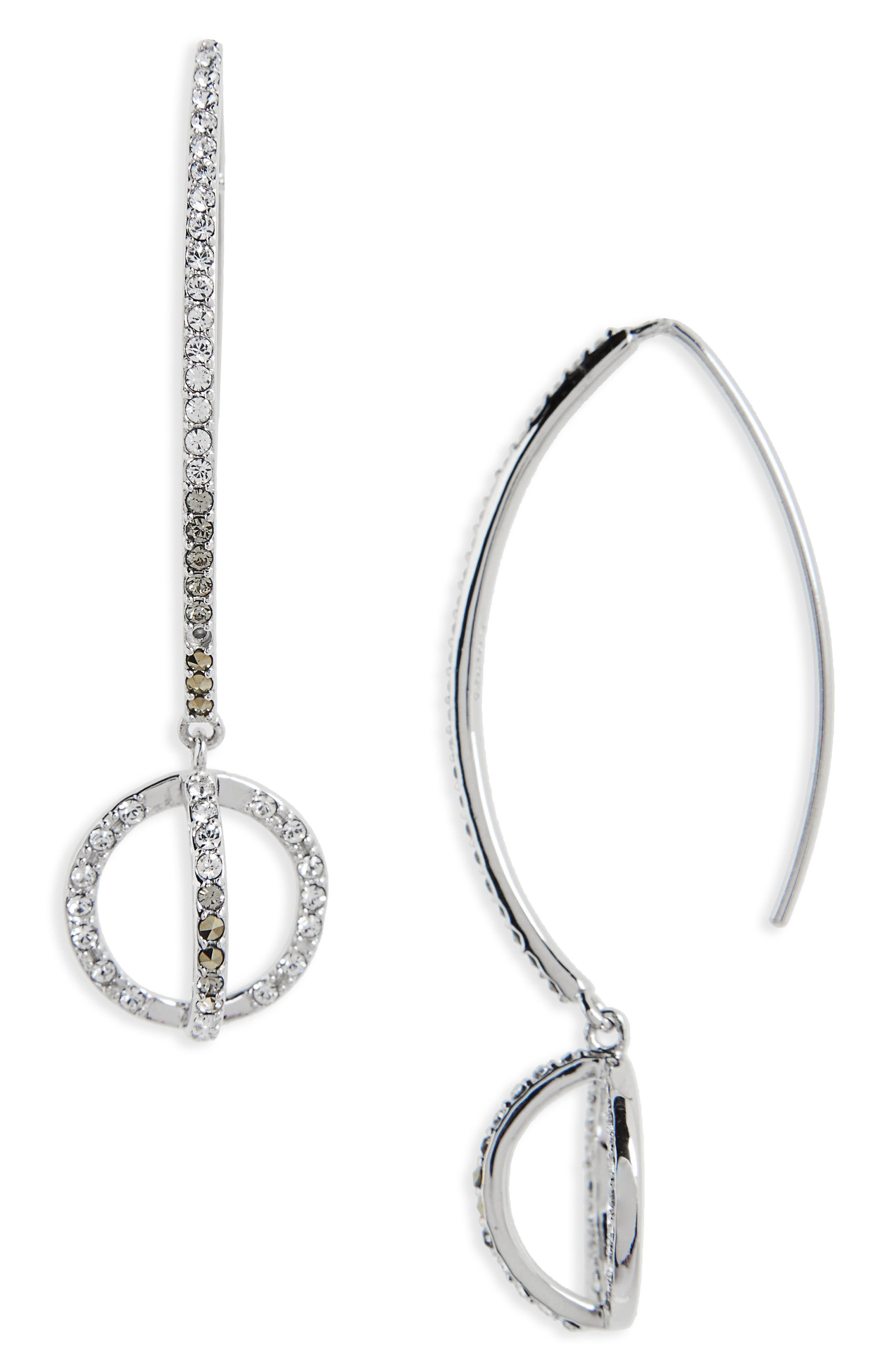 Main Image - Judith Jack Silver Sparkle Threader Earrings