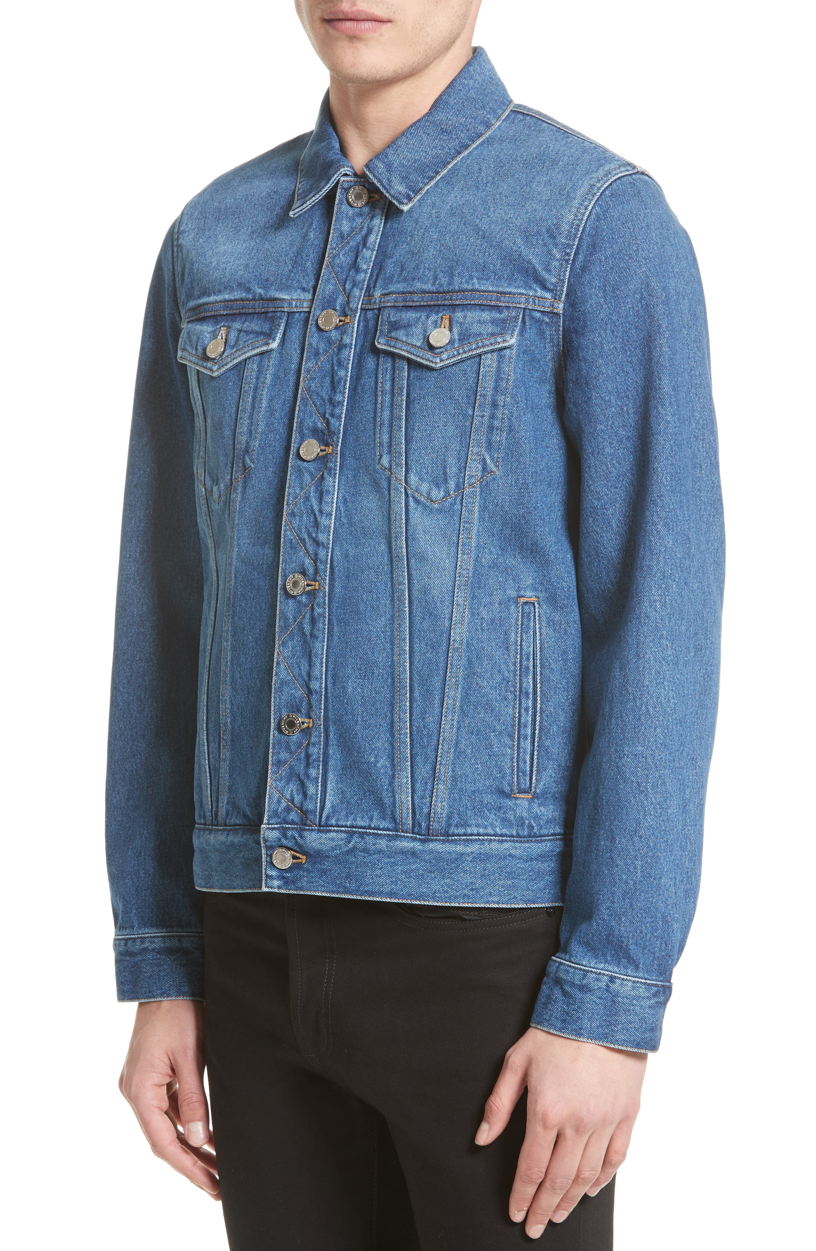 Logo Jean Jacket,                             Alternate thumbnail 4, color,                             Blue