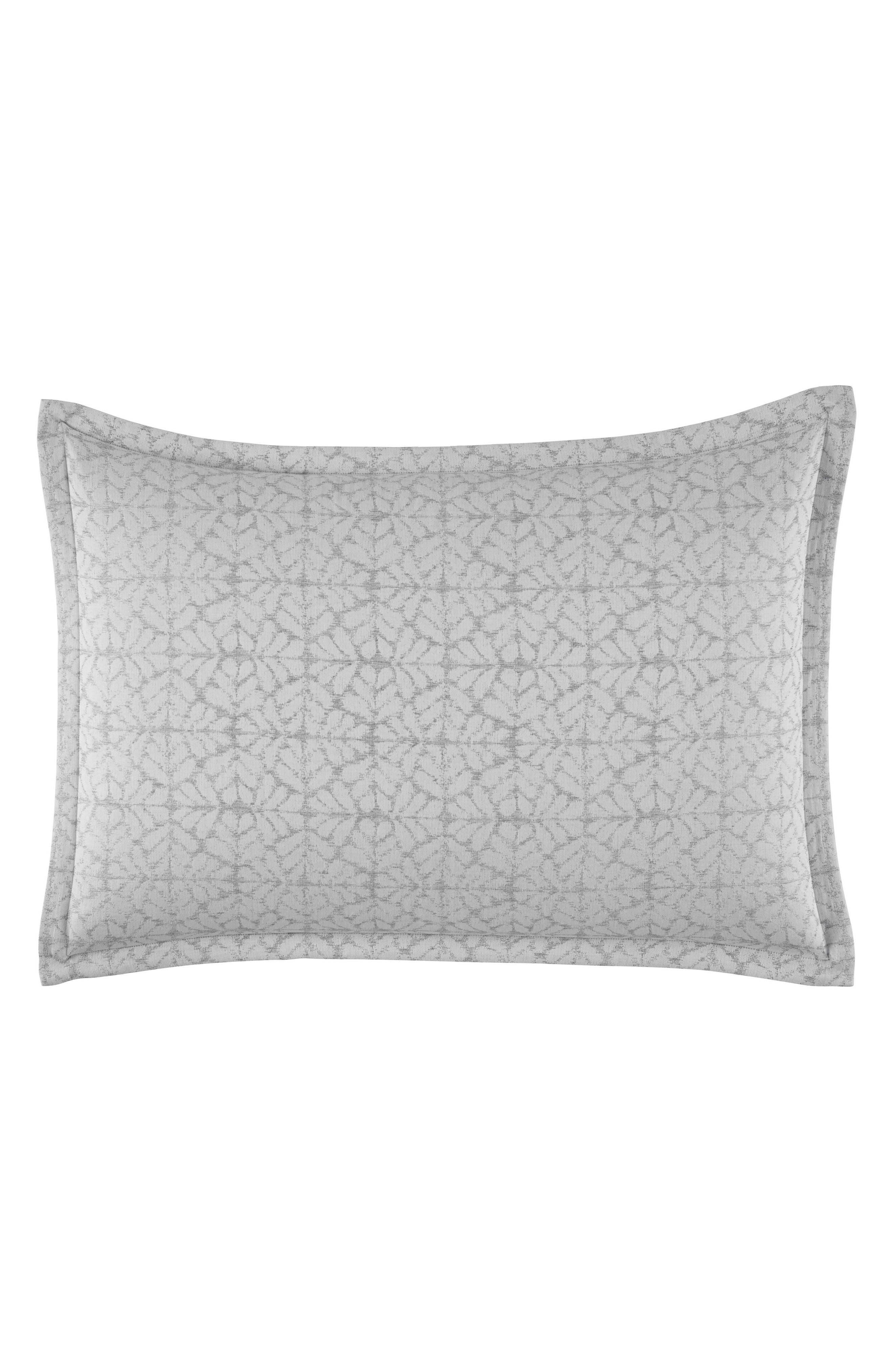 Mirrored Square Sham,                         Main,                         color, Grey
