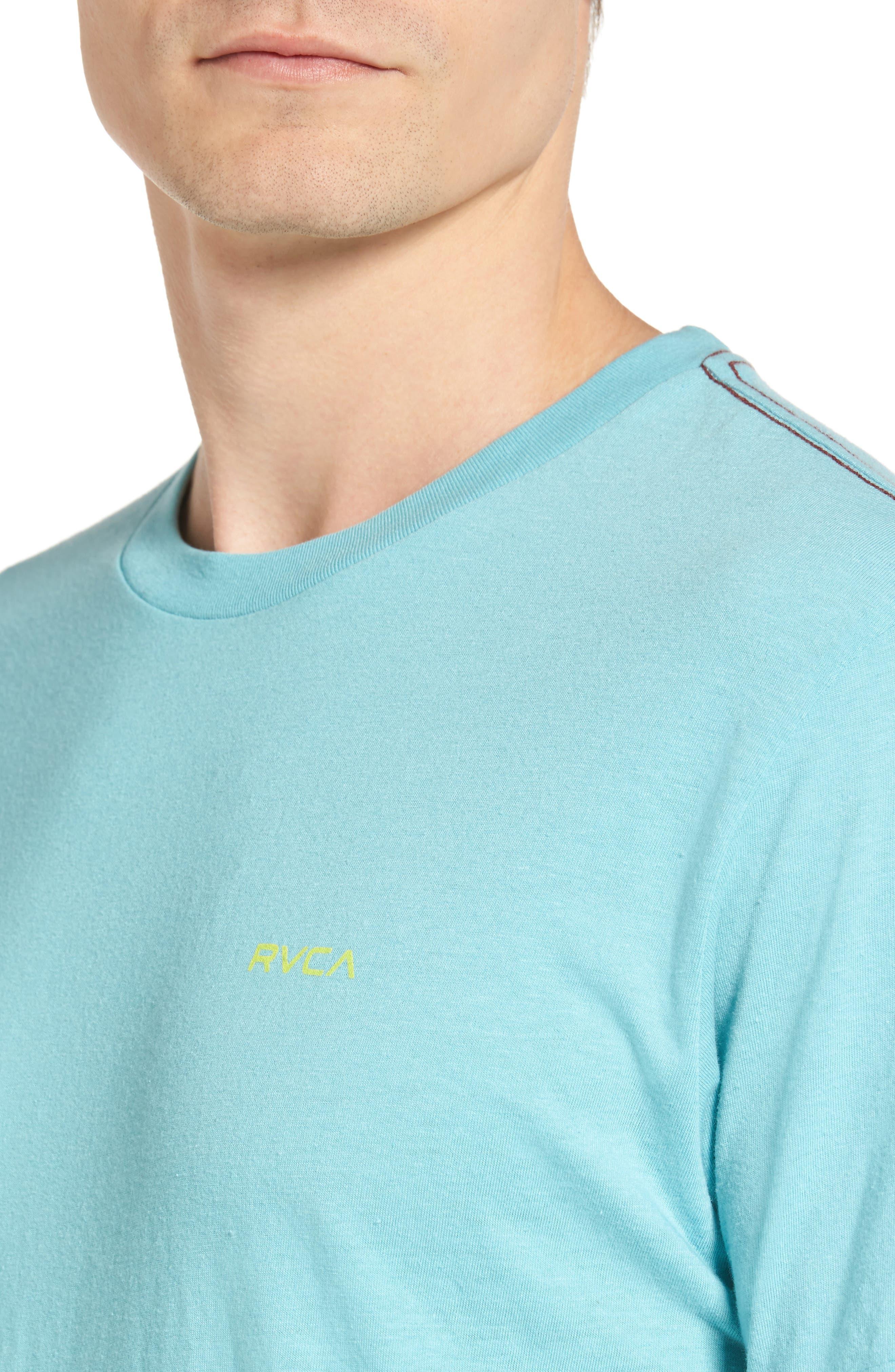Alternate Image 4  - RVCA Small RVCA Chest Graphic T-Shirt