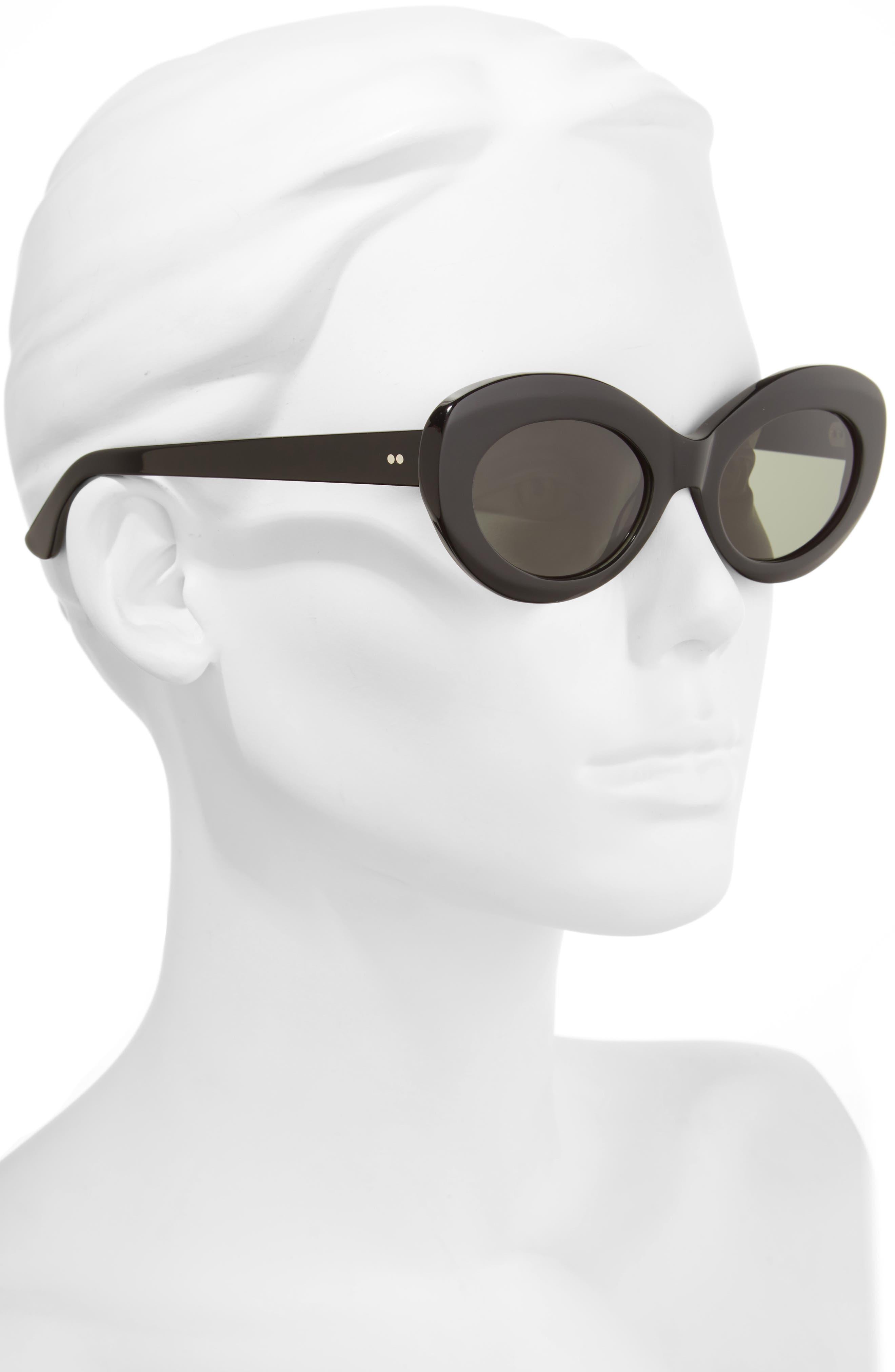 x Alex Knost Luxury Wig Ashtray 53mm Sunglasses,                             Alternate thumbnail 2, color,                             Black/ Black