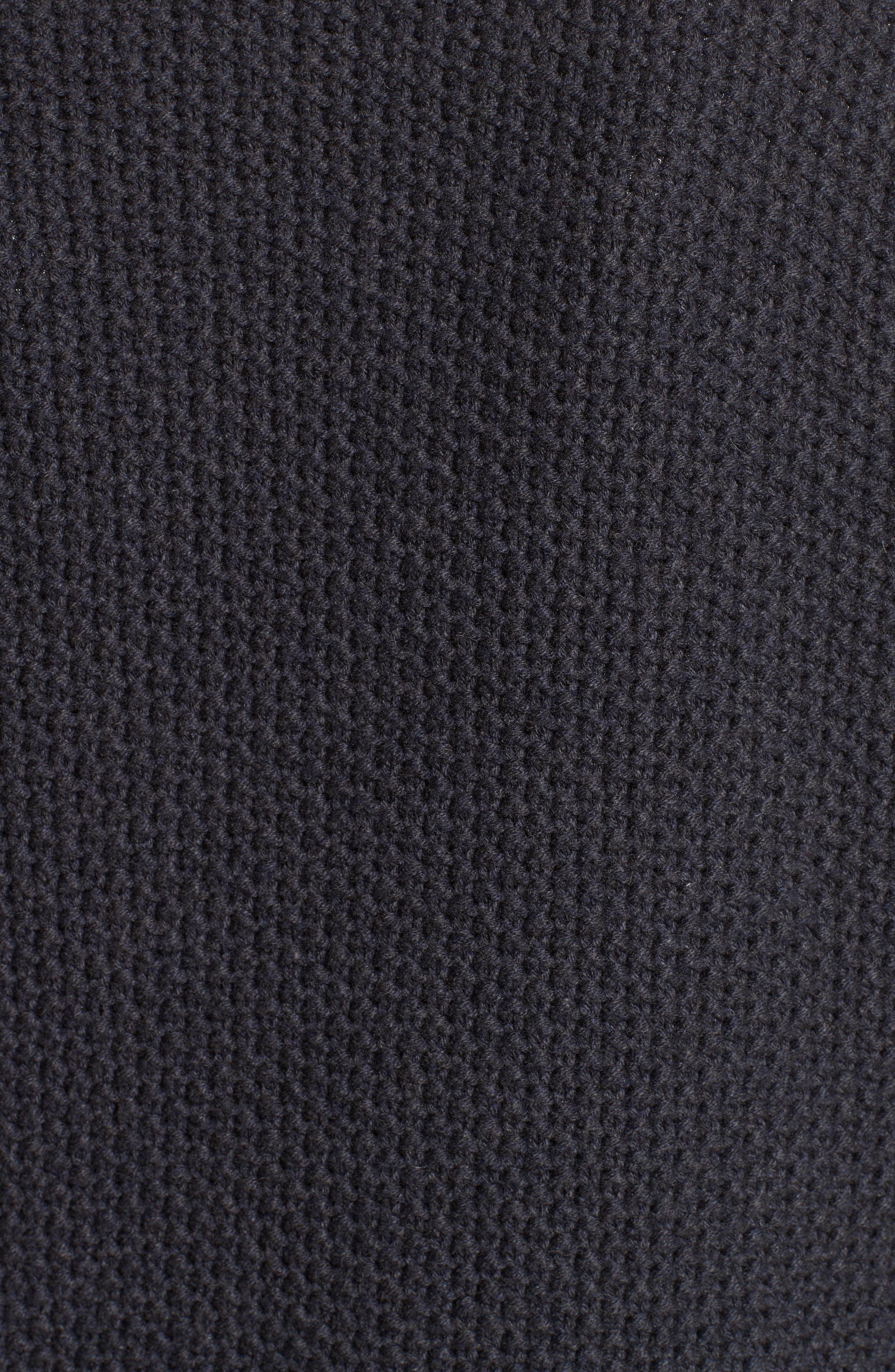 Alternate Image 3  - Fabiana Filippi Genuine Shearling Front Knit Vest