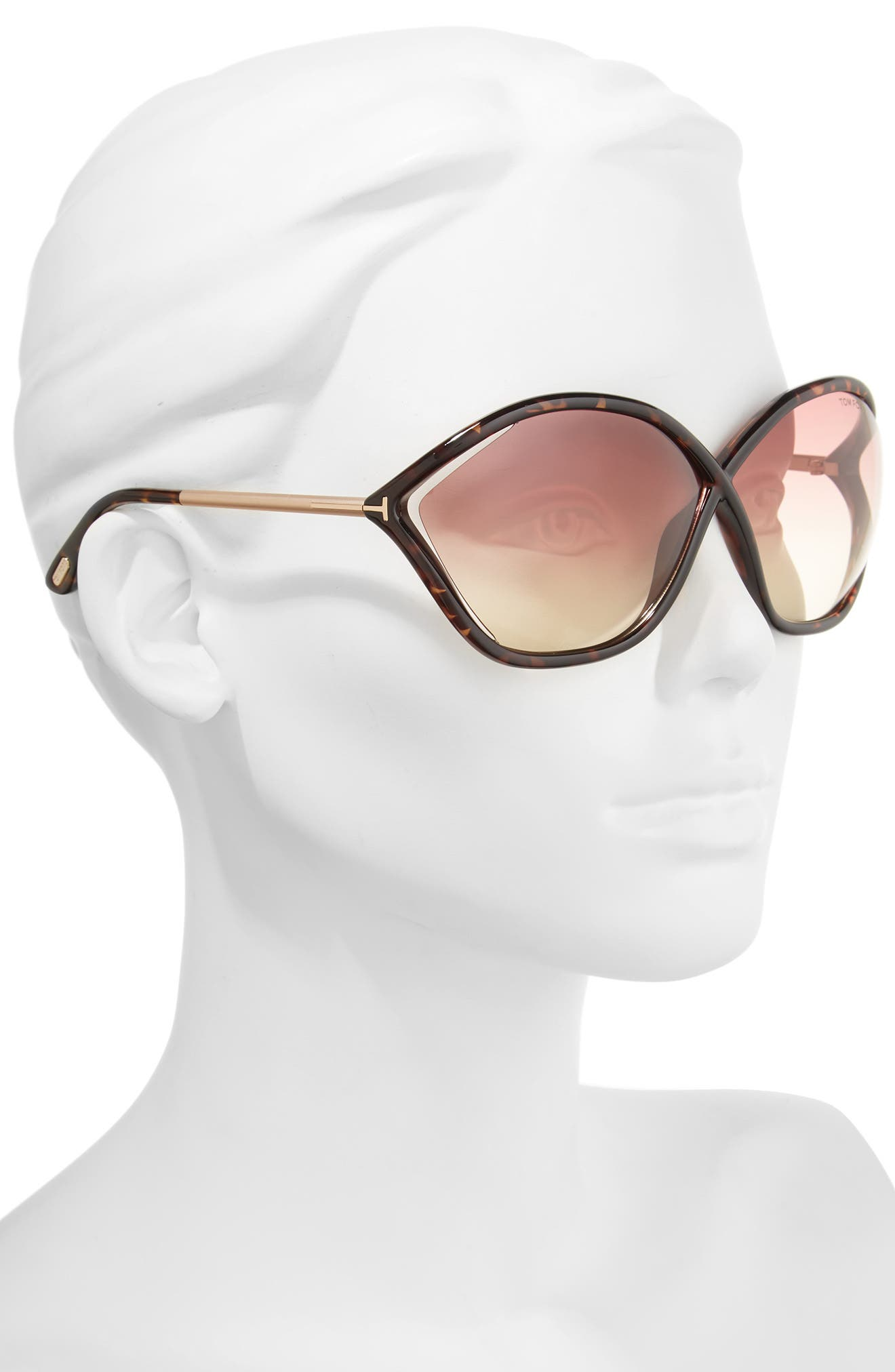 Alternate Image 2  - Tom Ford Bella 71mm Gradient Lens Sunglasses