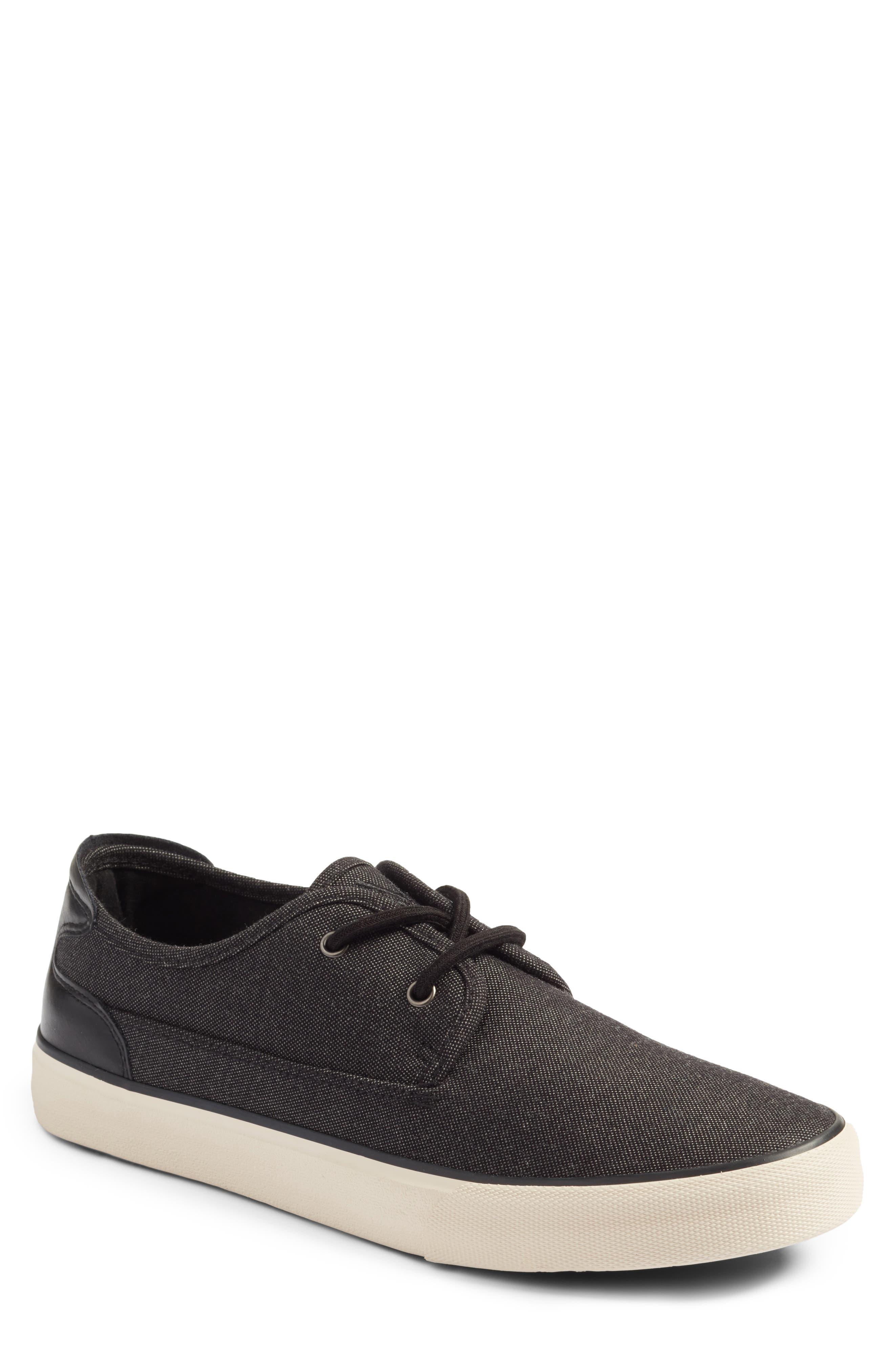 Morris Sneaker,                         Main,                         color, Black/ Bone