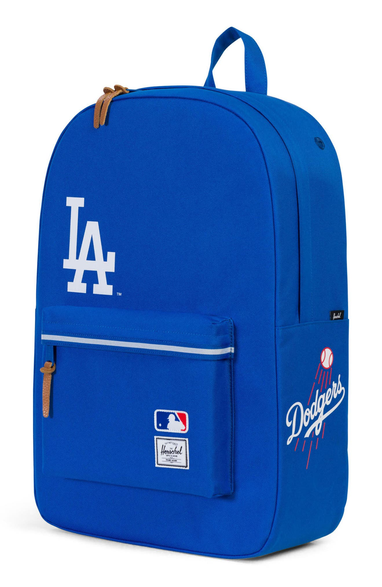 Heritage MLB Backpack,                             Alternate thumbnail 4, color,                             Los Angeles Dodgers