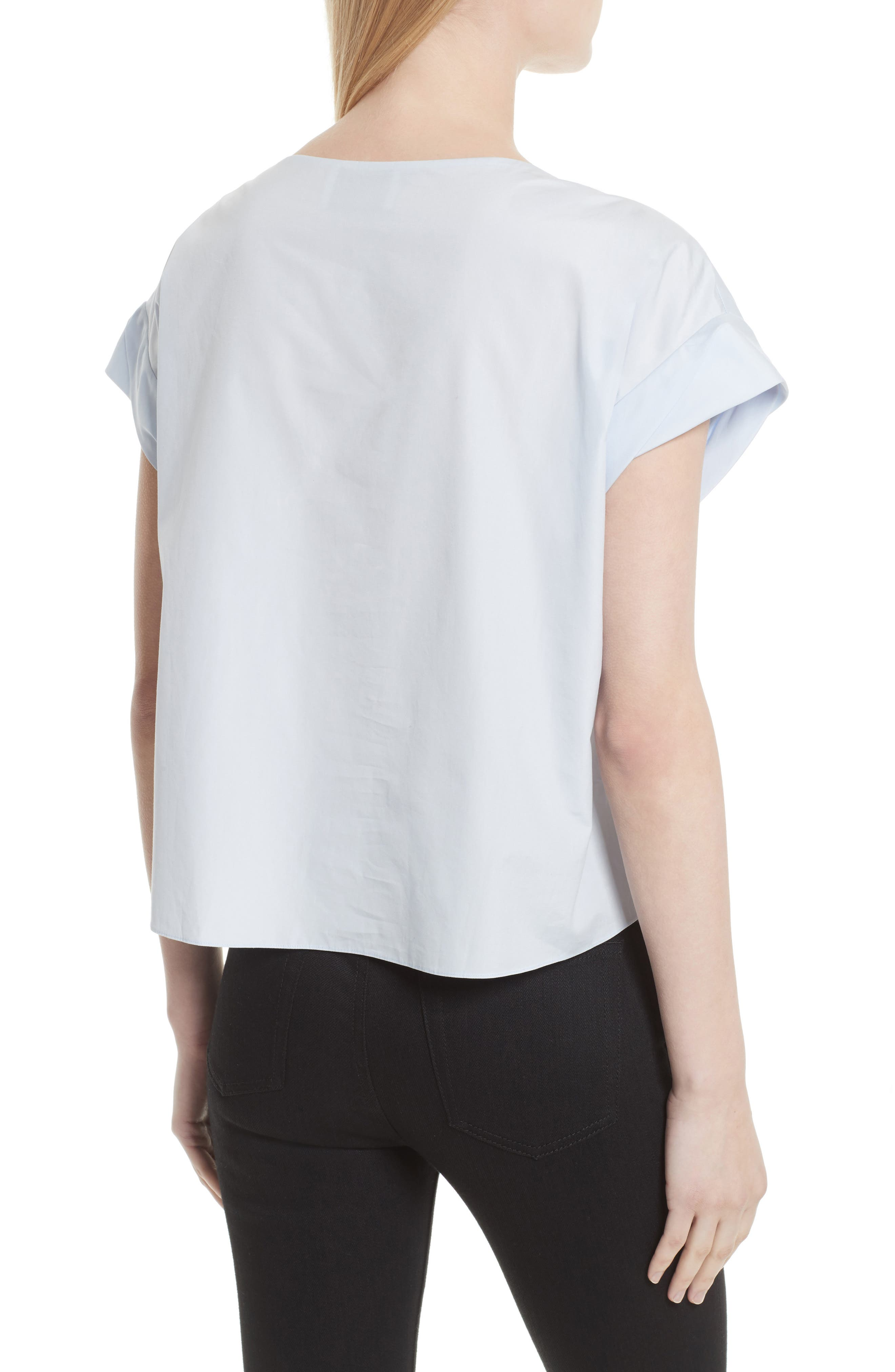 Alternate Image 2  - 3.1 Phillip Lim Faux Pearl & Chain Lacing Cotton Top