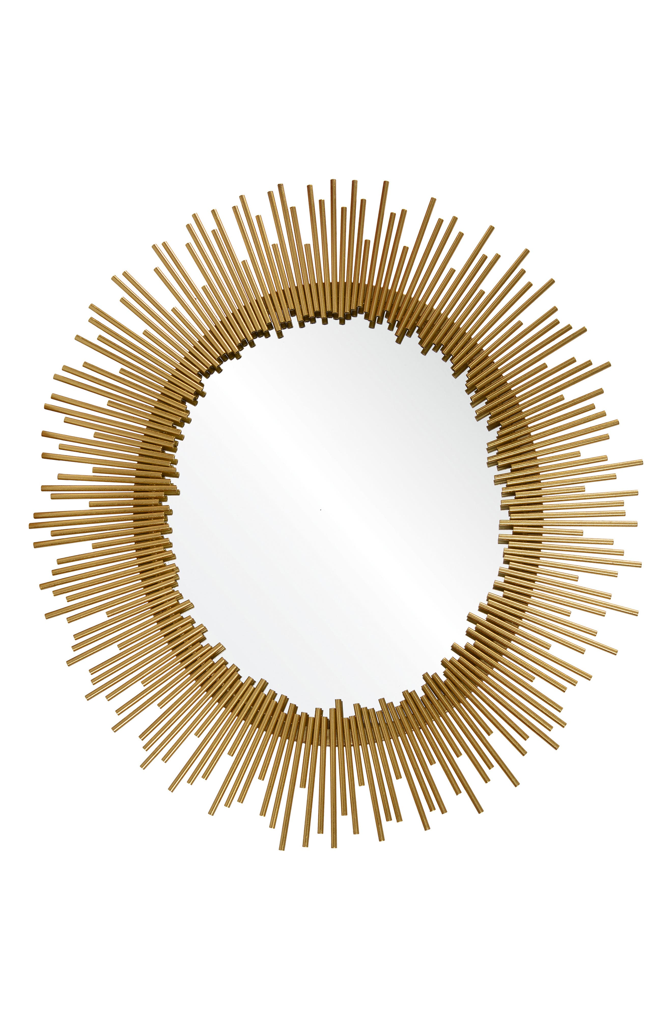 Orwell Oval Mirror,                         Main,                         color, Gold Leaf