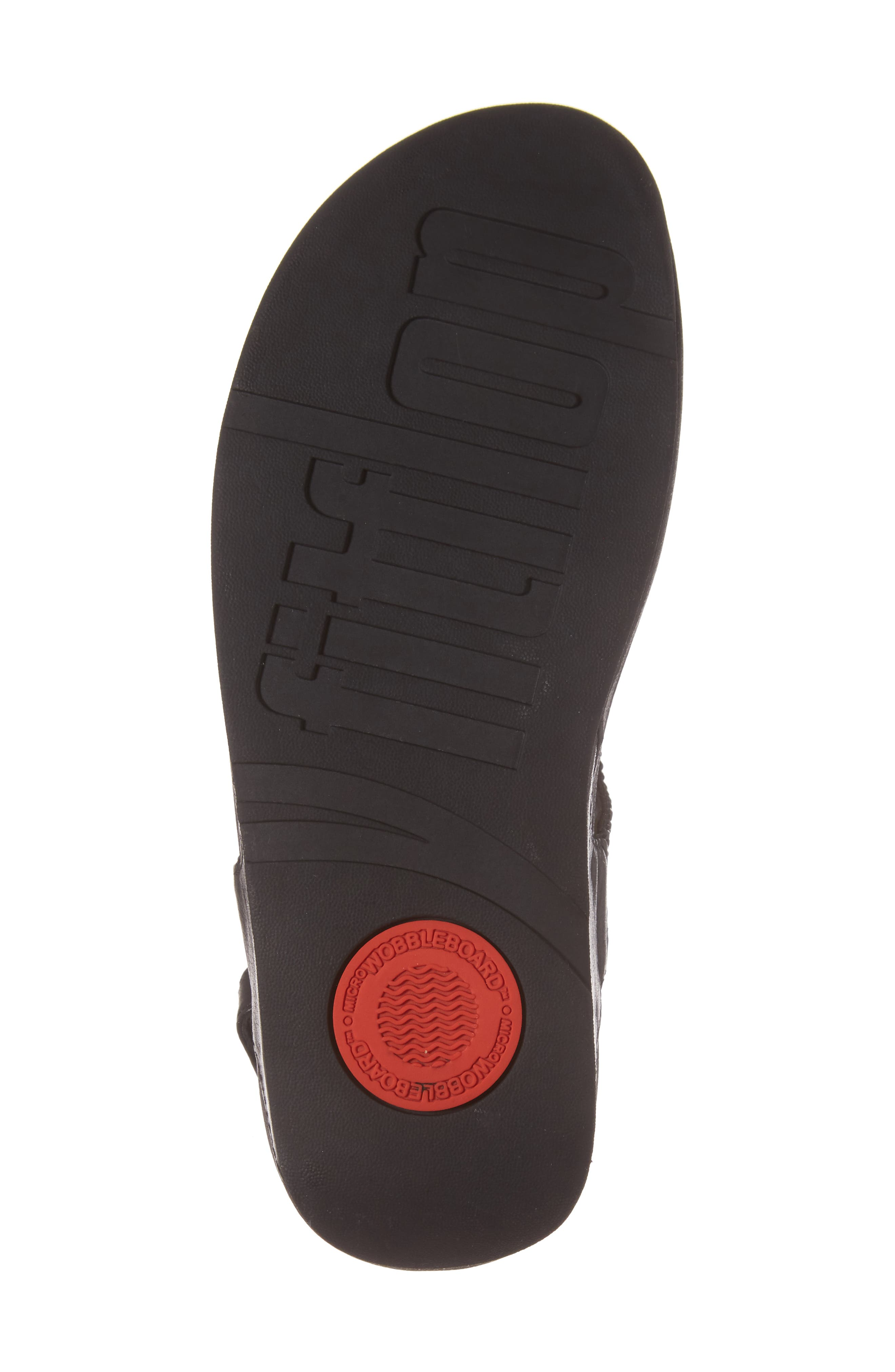 Bumble Crystal Embellished Sandal,                             Alternate thumbnail 6, color,                             Black Leather