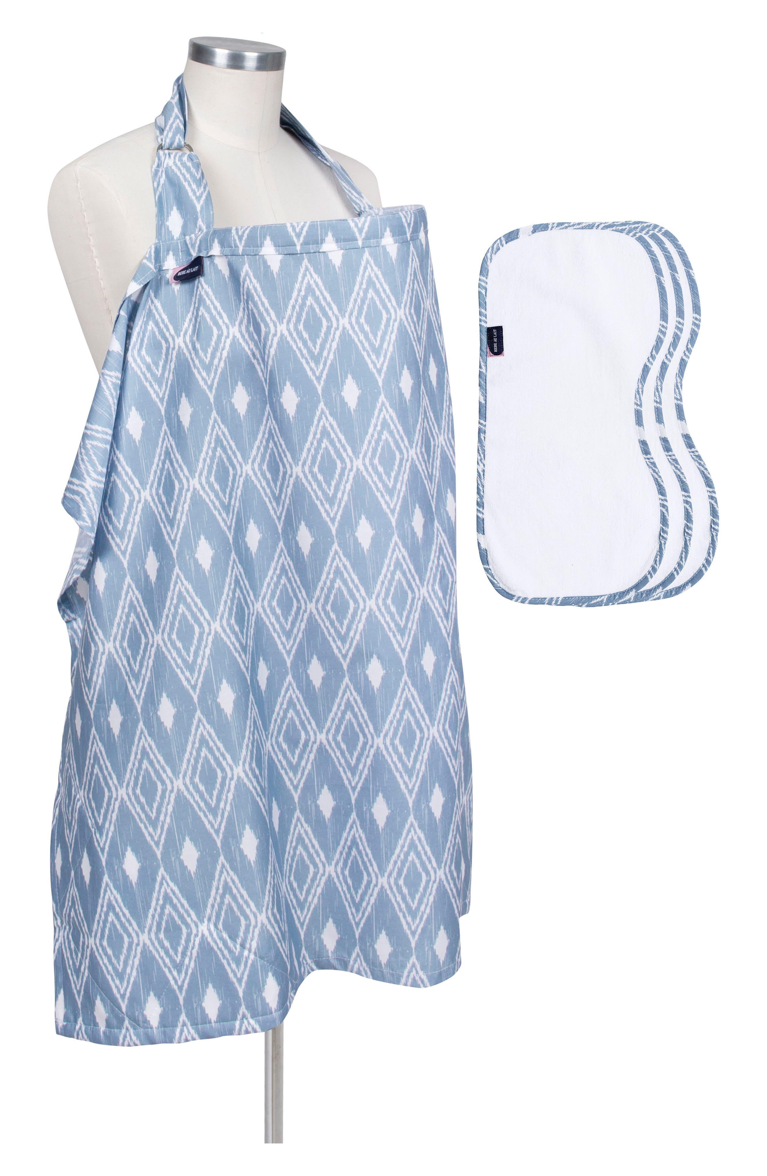 Alternate Image 1 Selected - Bébé au Lait Nursing Cover & Burp Cloth Set