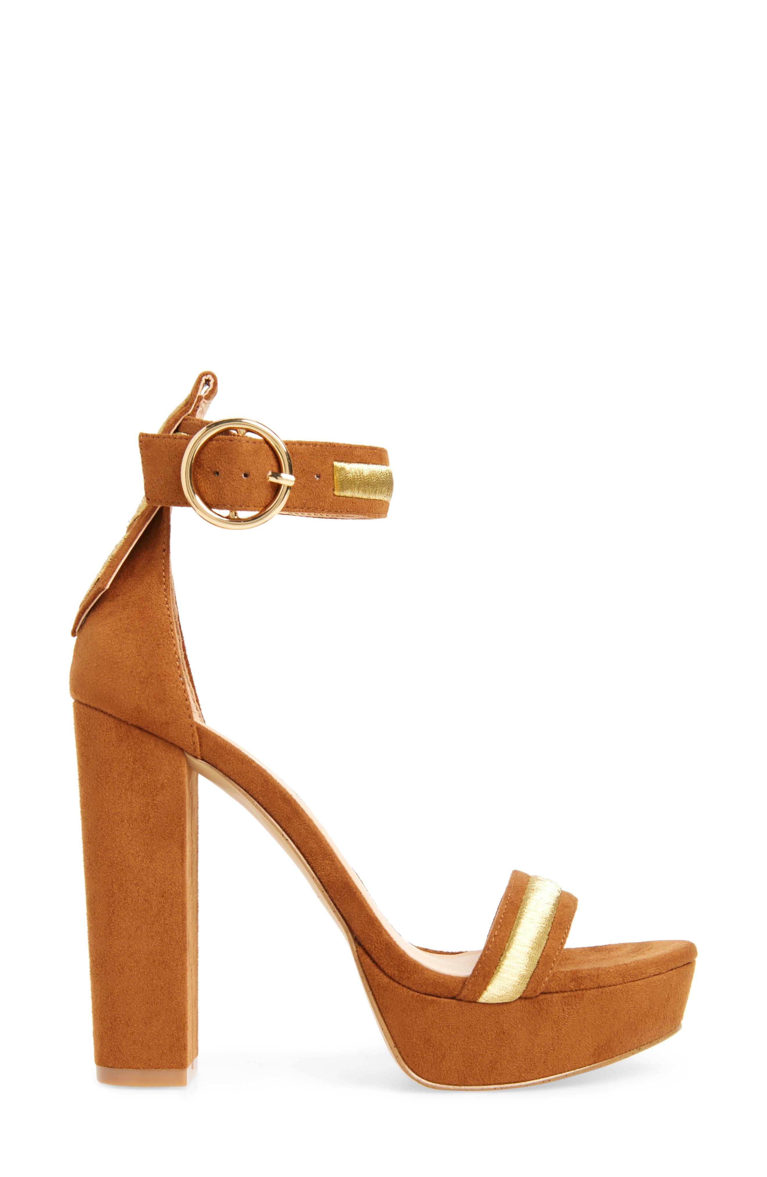 by Zendaya Norah Tall Platform Sandal,                             Alternate thumbnail 3, color,                             Whiskey
