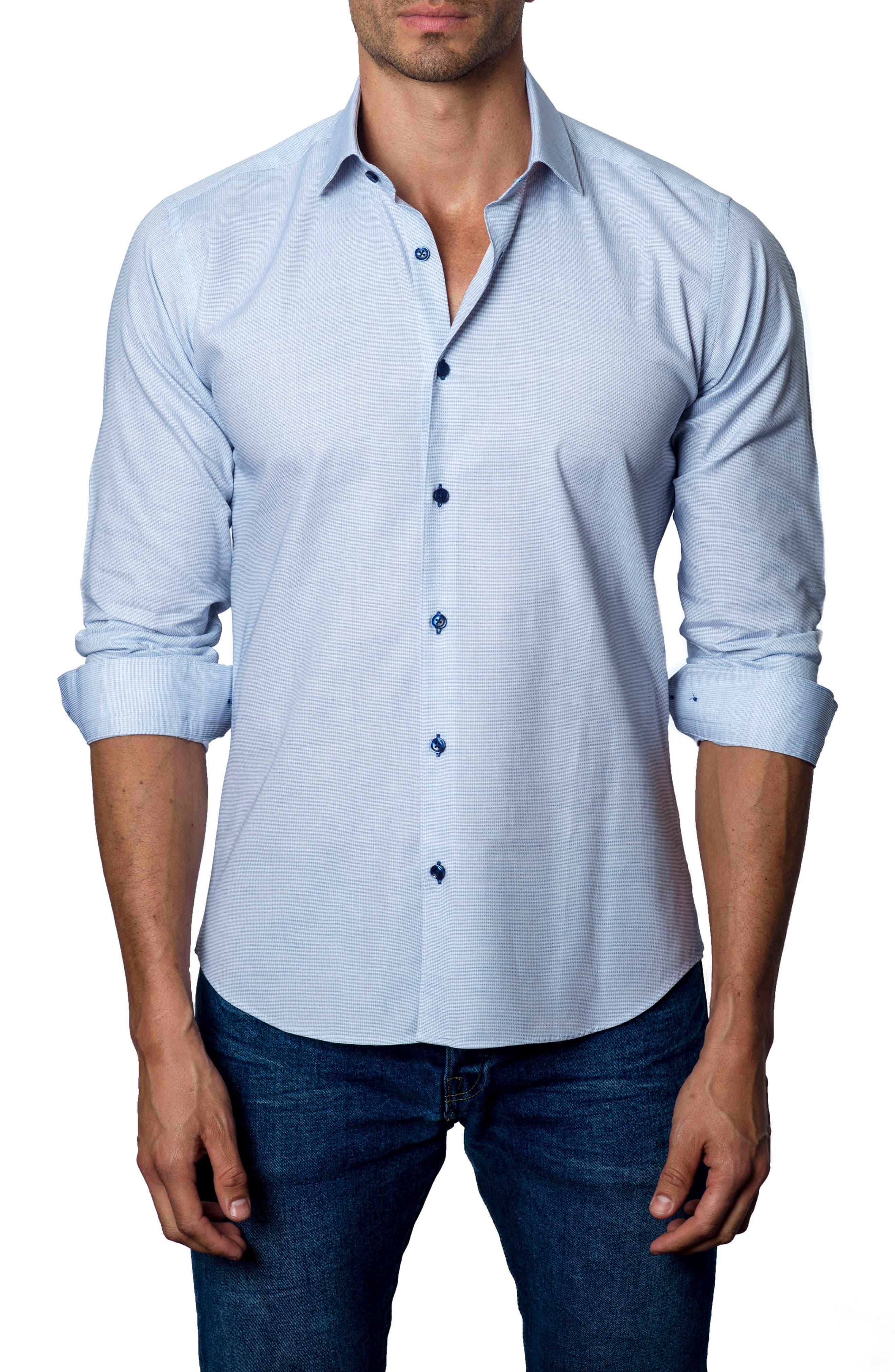 Sport Shirt,                         Main,                         color, Blue / White Pinstripe