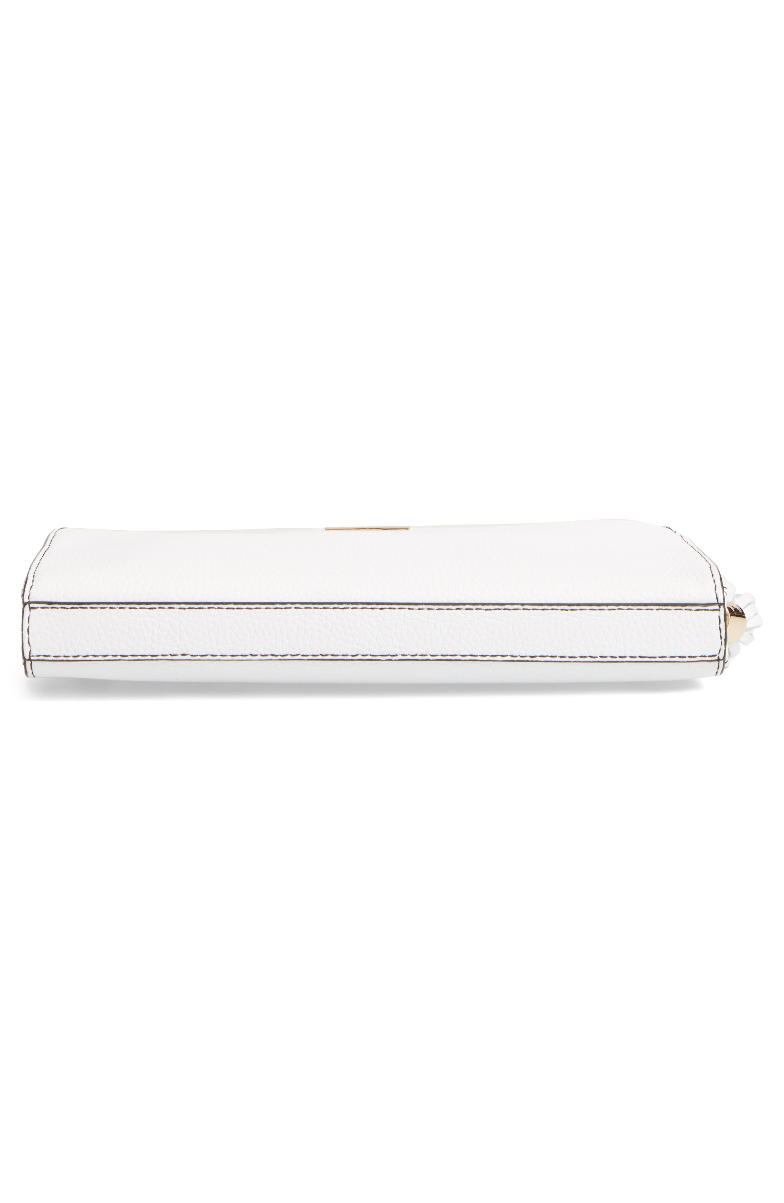 Astor Leather Clutch,                             Alternate thumbnail 6, color,                             White