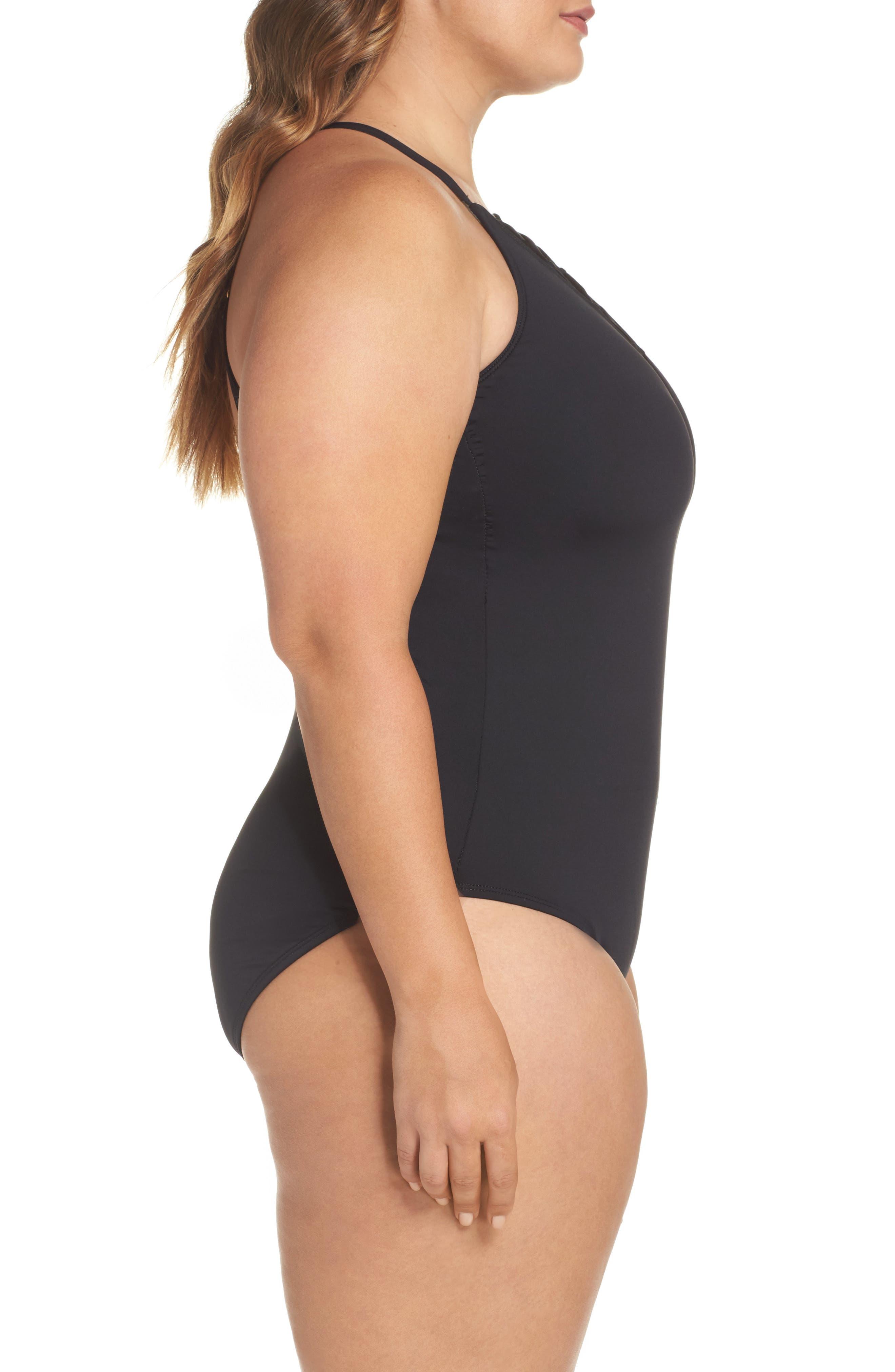Alternate Image 3  - La Blanca One-Piece Swimsuit (Plus Size)