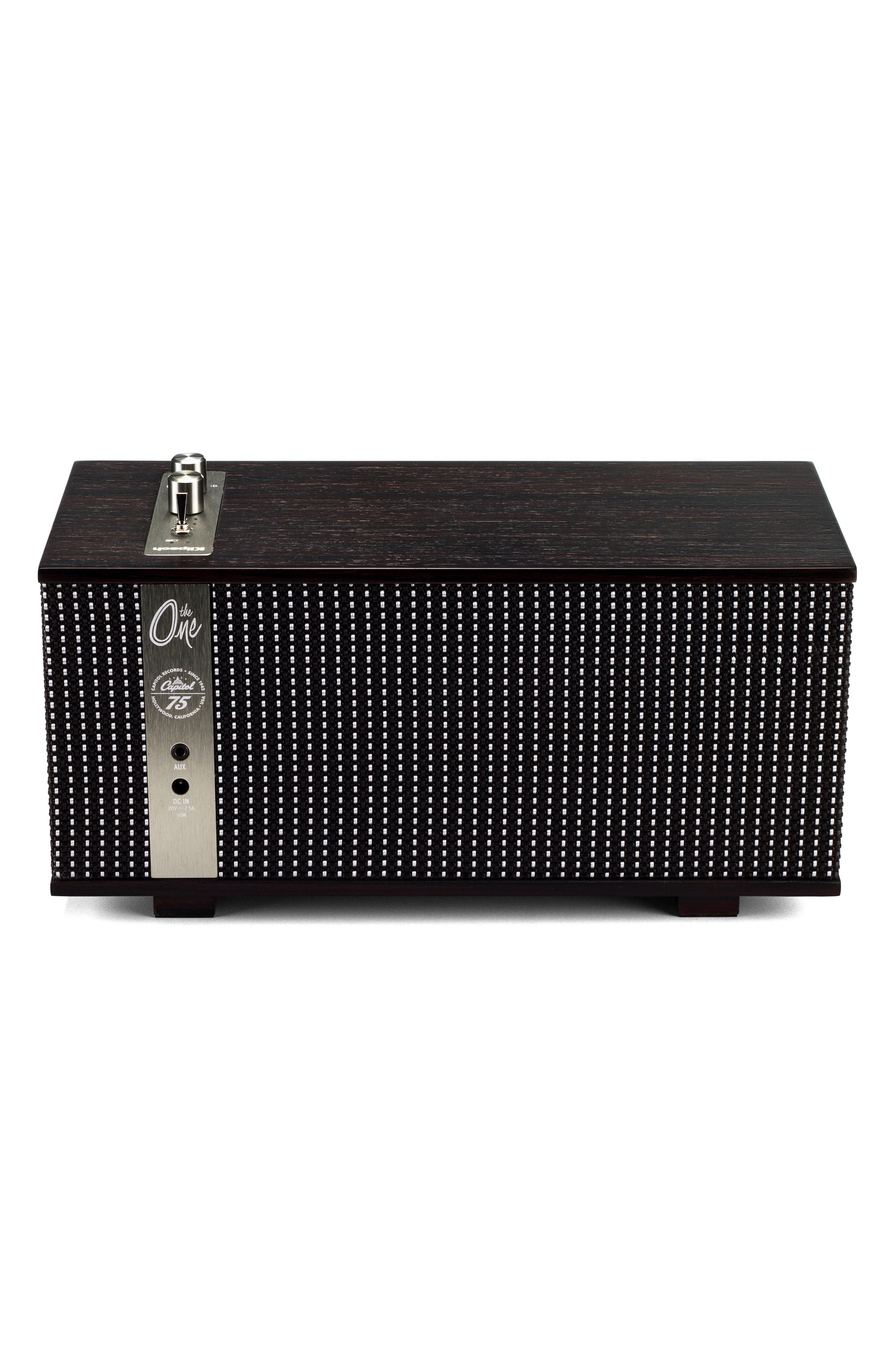 The Capitol One Bluetooth<sup>®</sup> Speaker,                             Alternate thumbnail 2, color,                             Ebony/ Silver