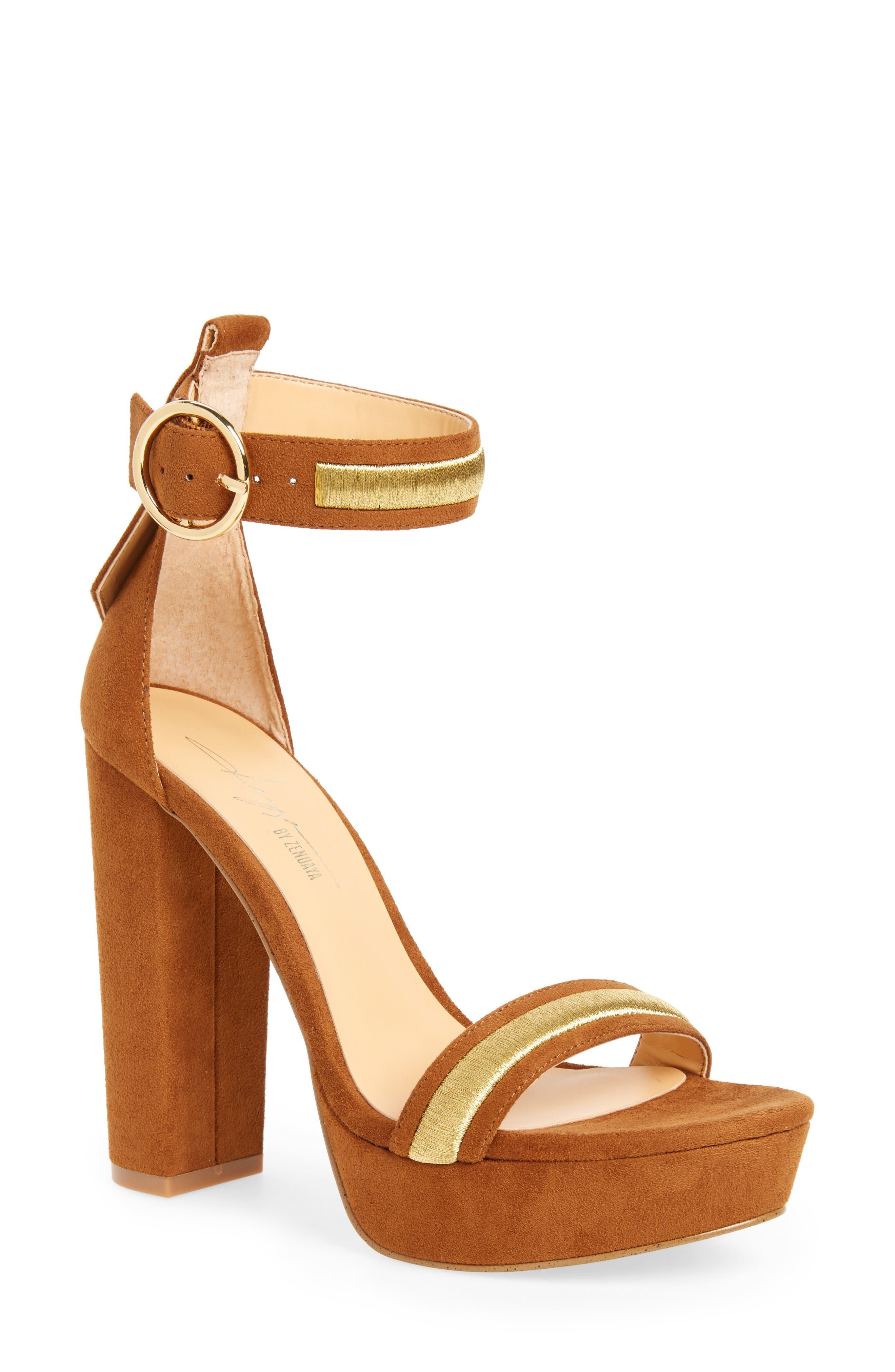 by Zendaya Norah Tall Platform Sandal,                             Main thumbnail 1, color,                             Whiskey