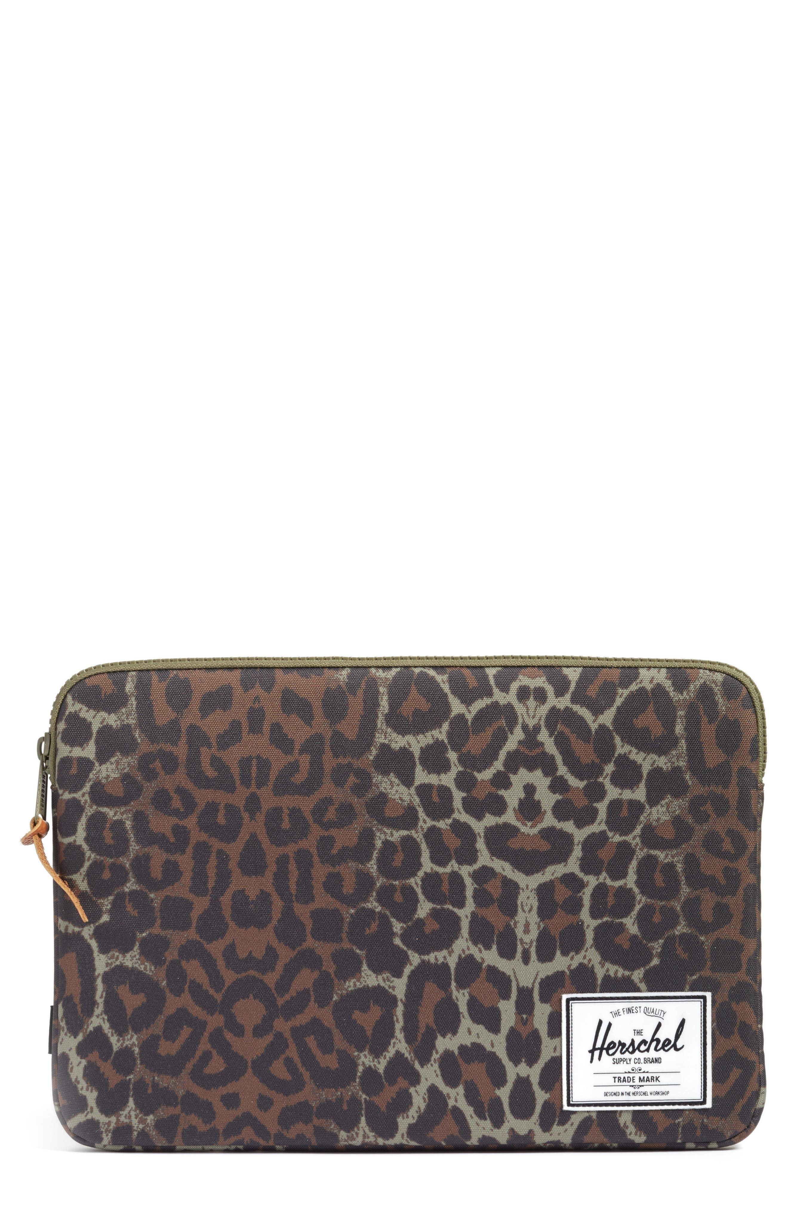 Anchor Laptop Sleeve,                         Main,                         color, Cheetah Camo