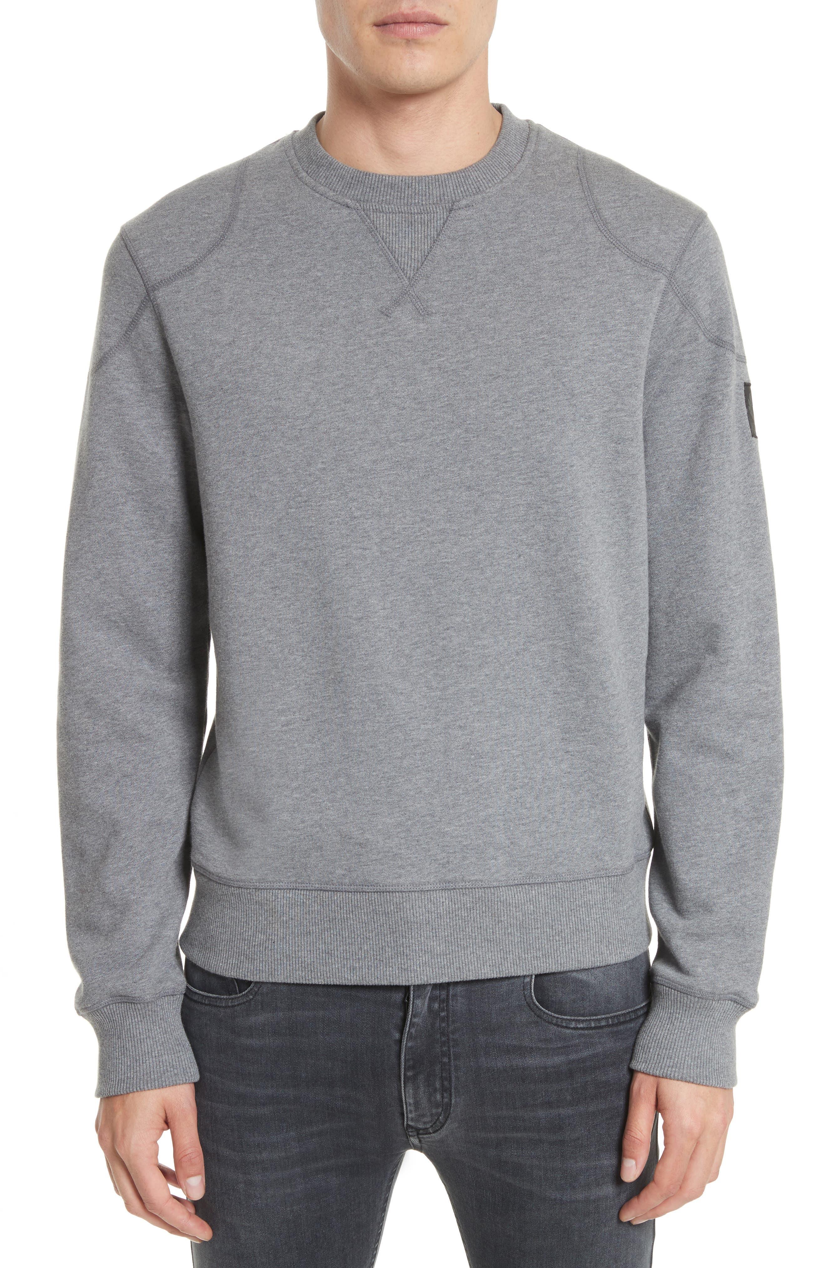 Jefferson Fleece Sweatshirt,                         Main,                         color, Dark Grey Mel