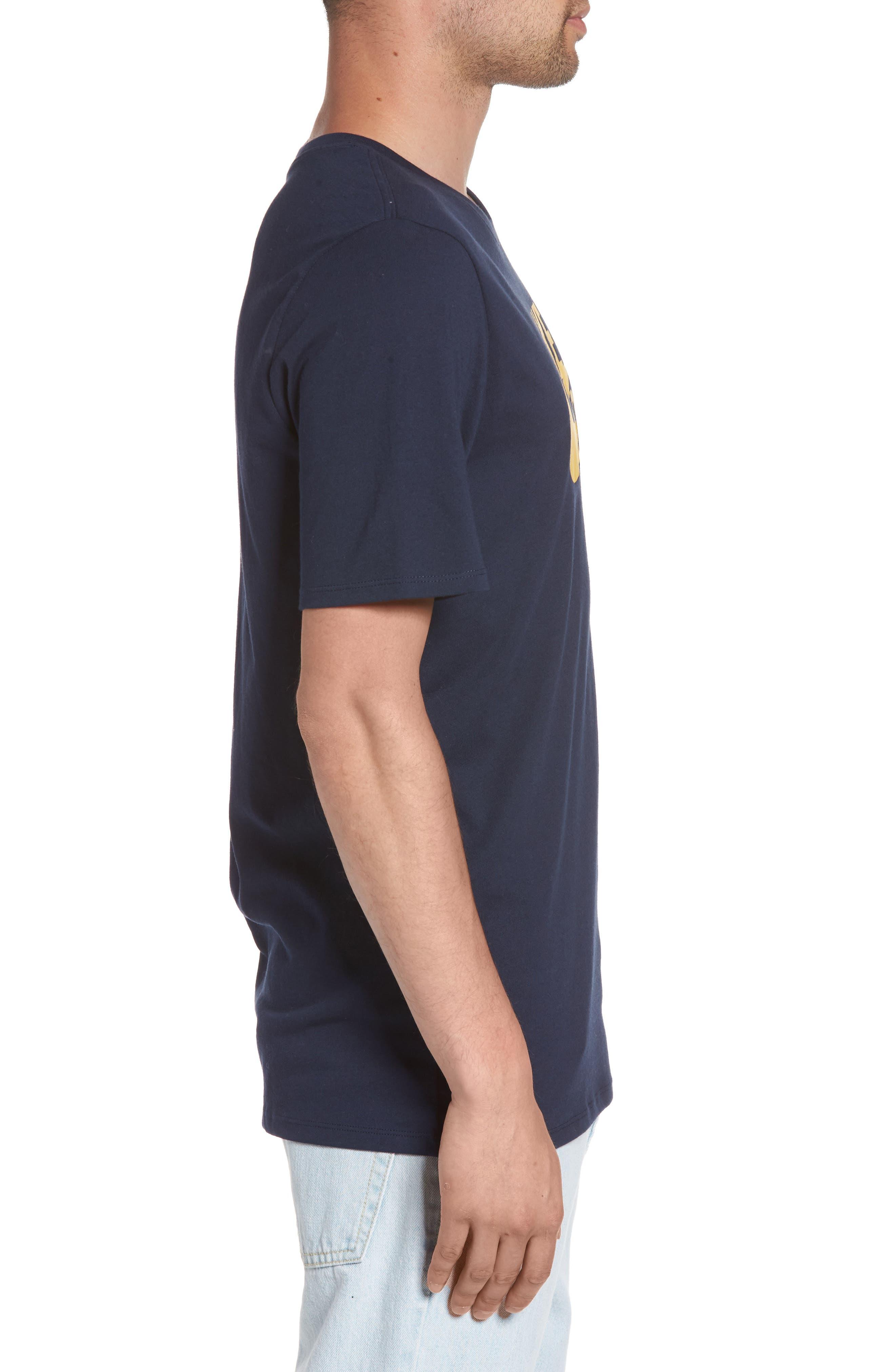 Nike 'SB Logo' T-Shirt,                             Alternate thumbnail 3, color,                             Obsidian/ Mineral Gold