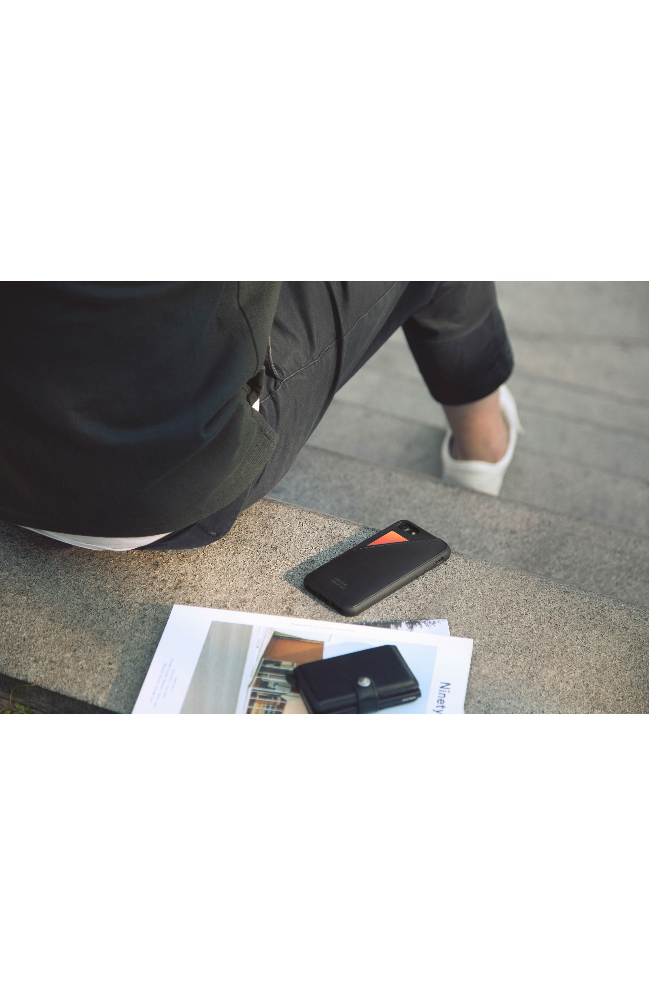 CLIC Card iPhone 7/8 & 7/8 Plus Case,                             Alternate thumbnail 3, color,                             Black/ Black