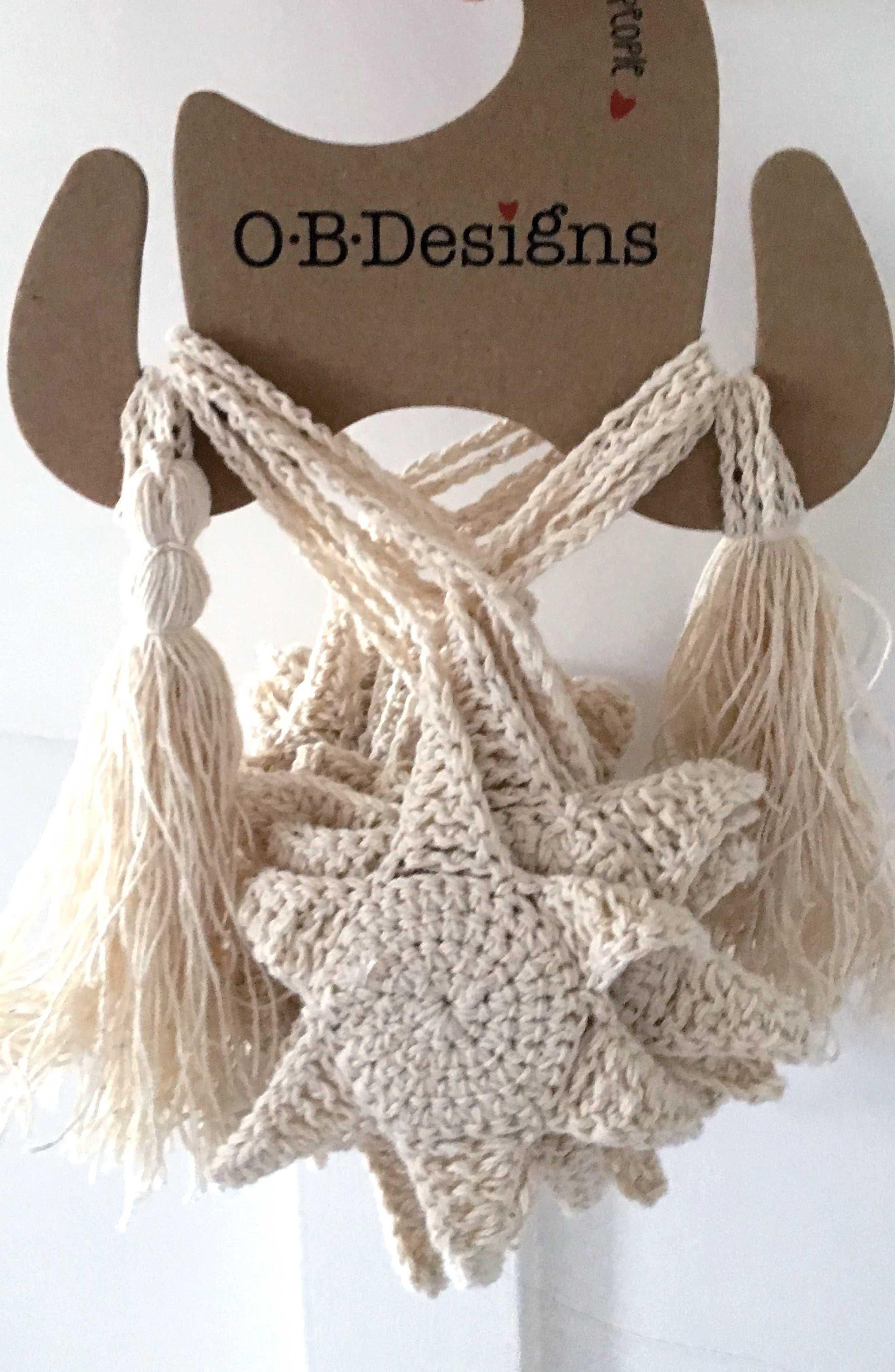 O.B. Designs Crocheted Star Bunting