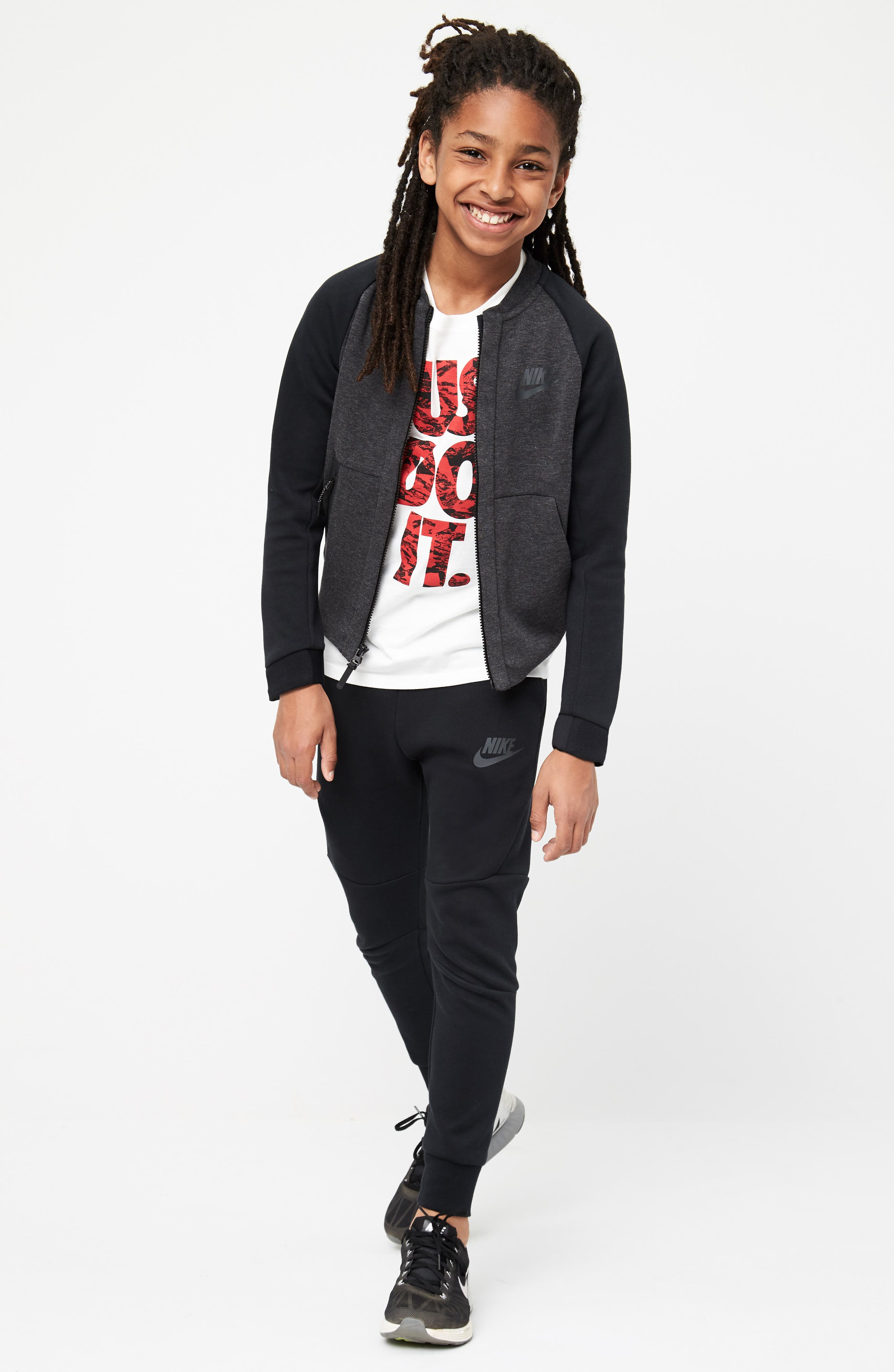 Sportswear Tech Fleece Bomber Jacket,                             Alternate thumbnail 2, color,                             Blk H/ Anthra