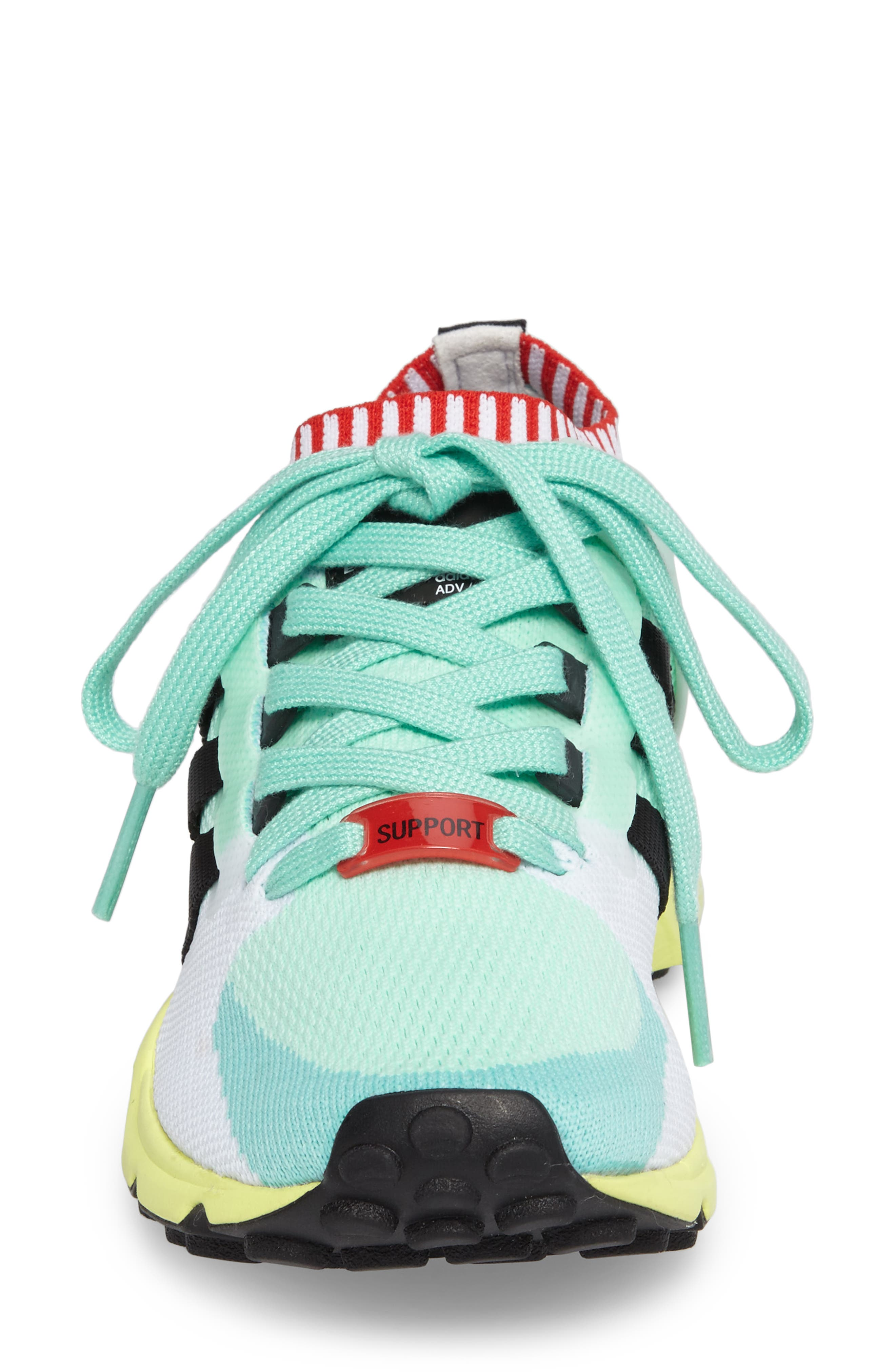 EQT Support RF Sneaker,                             Alternate thumbnail 3, color,                             Green/ Core Black/ Green