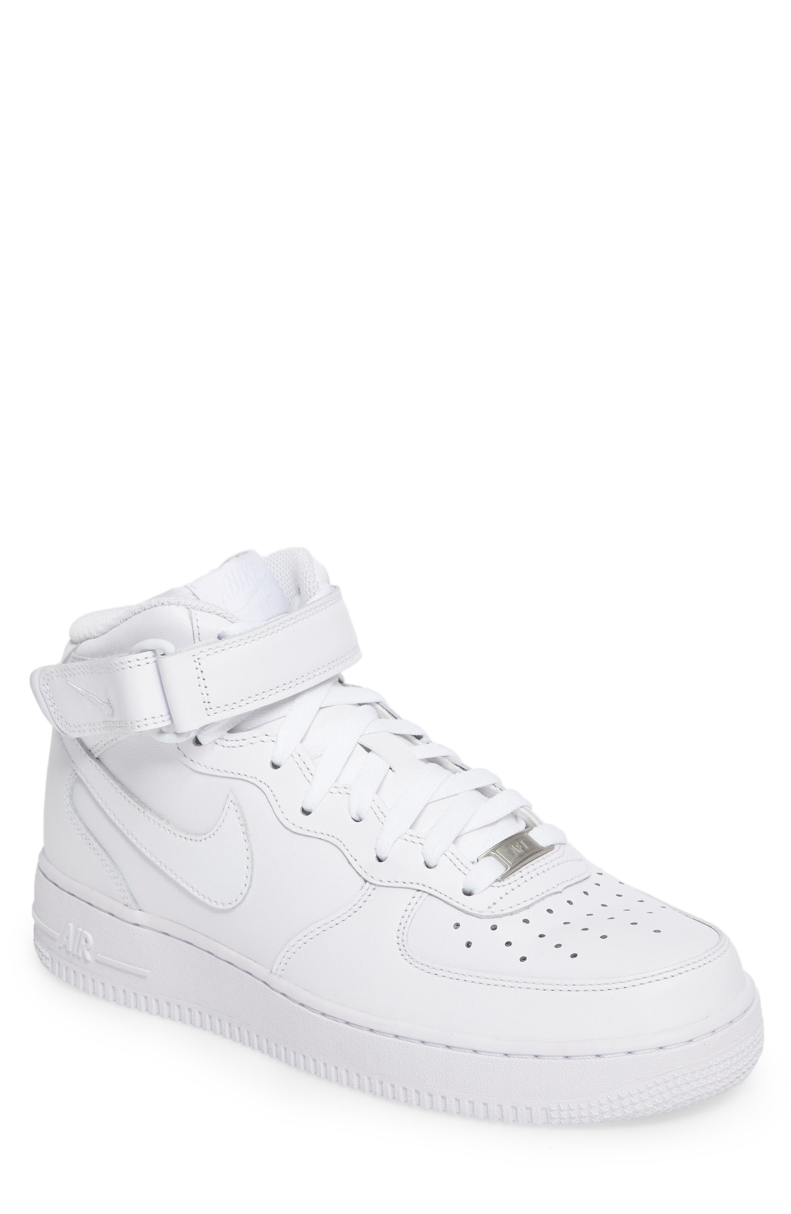 Air Force 1 Mid '07 Sneaker,                             Main thumbnail 1, color,                             White/ White