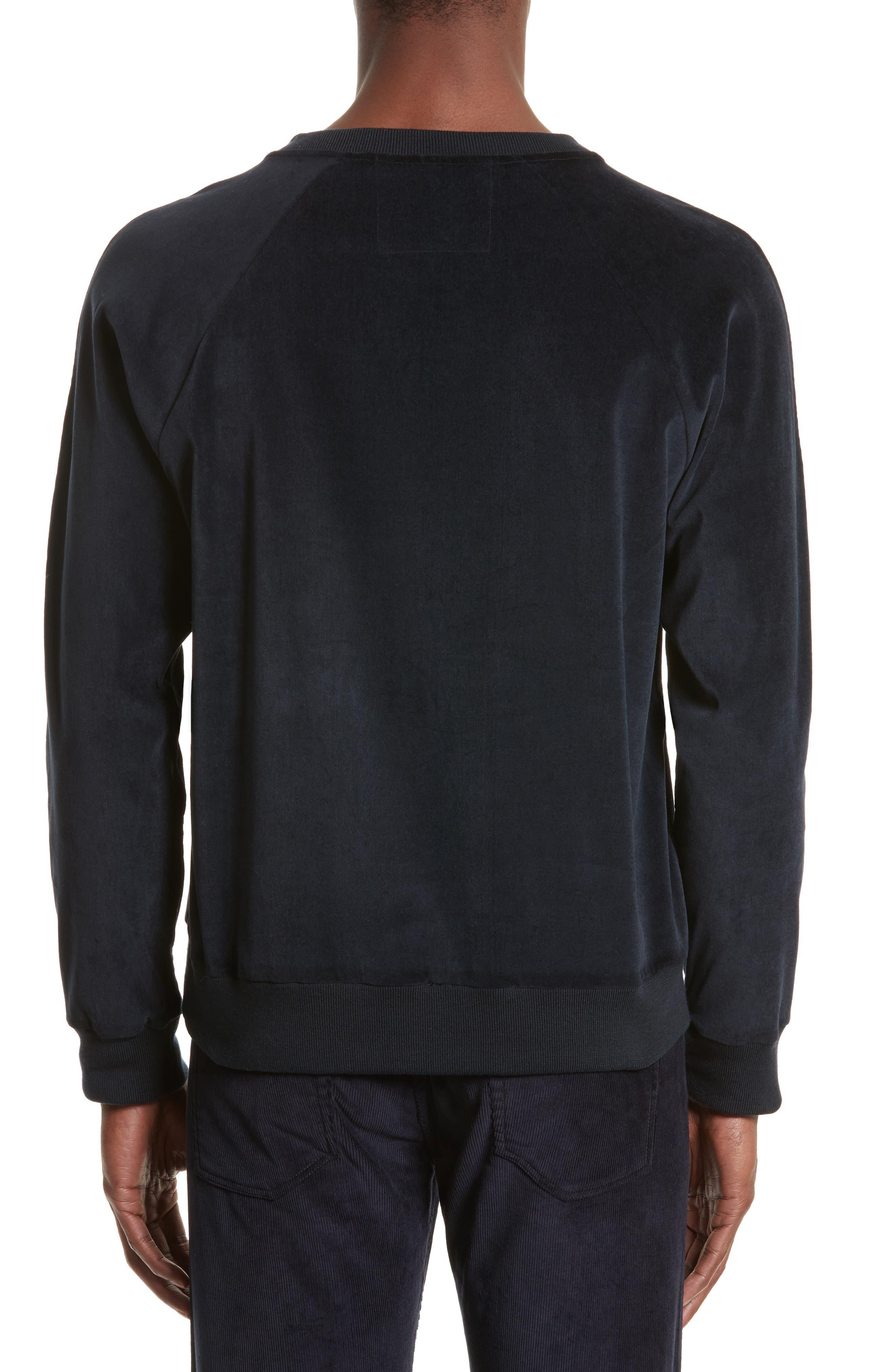 Velvet Sweatshirt,                             Alternate thumbnail 2, color,                             Navy