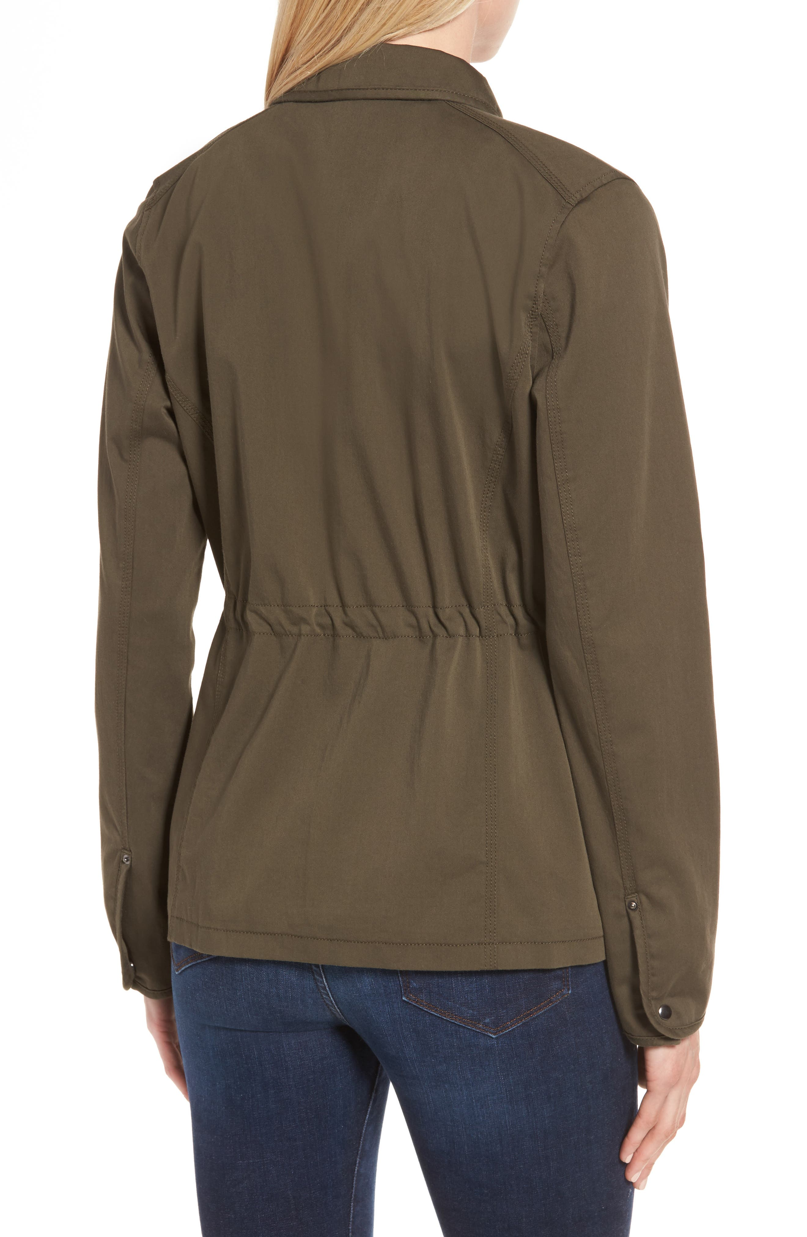 Sateen Utility Jacket,                             Alternate thumbnail 2, color,                             Olive Grove