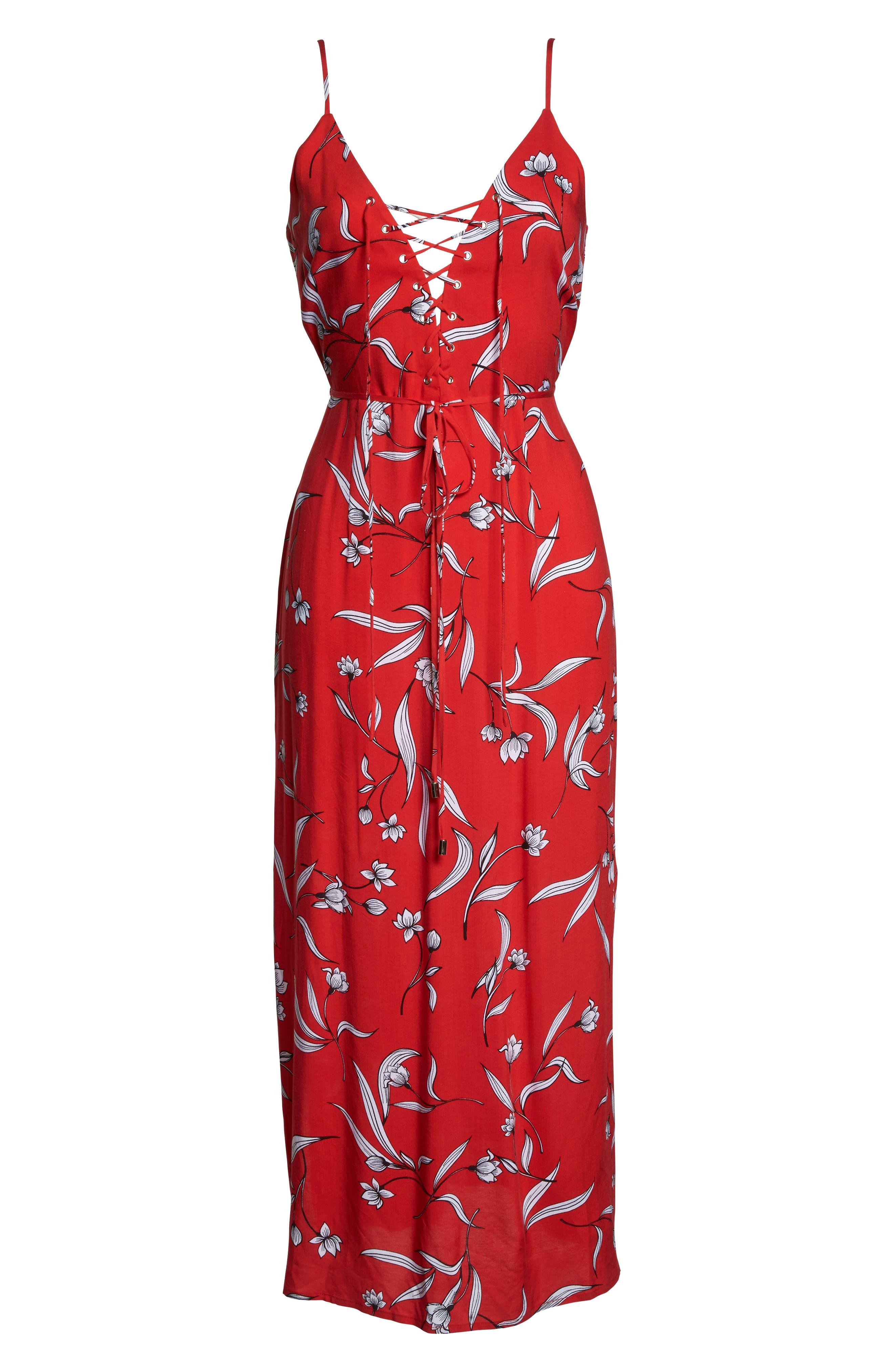 Amelia Floral Dress,                             Alternate thumbnail 6, color,                             Floral Print