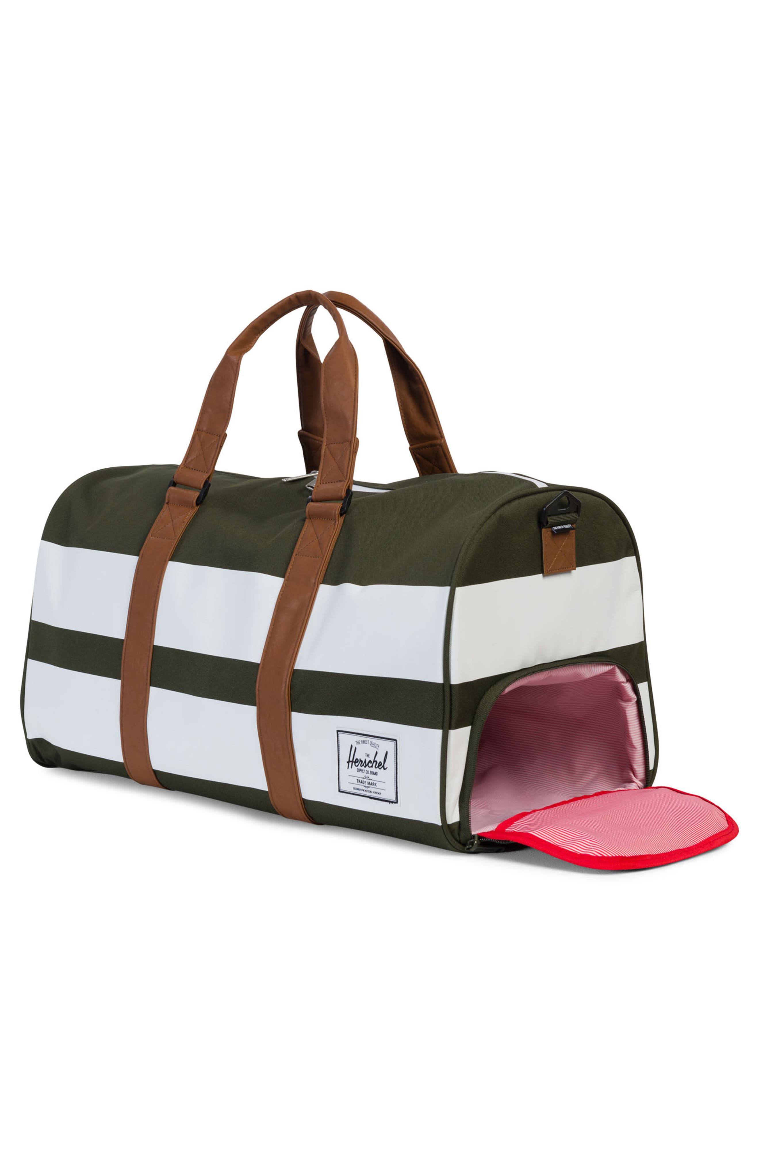 Novel Rugby Stripe Duffel,                             Alternate thumbnail 2, color,                             Forest Night Rugby Strip