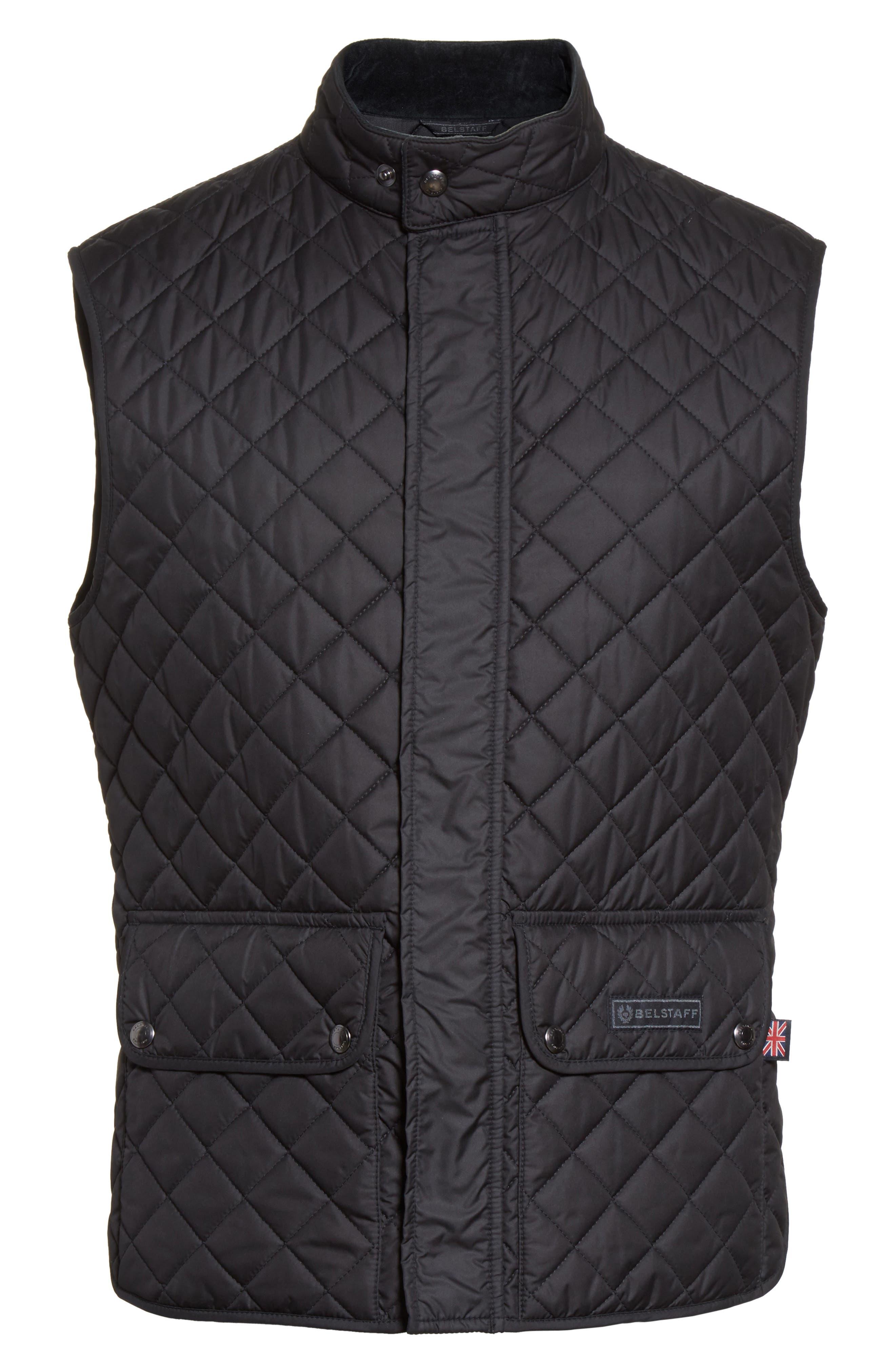 Waistcoat Tech Quilted Vest,                             Alternate thumbnail 6, color,                             Black