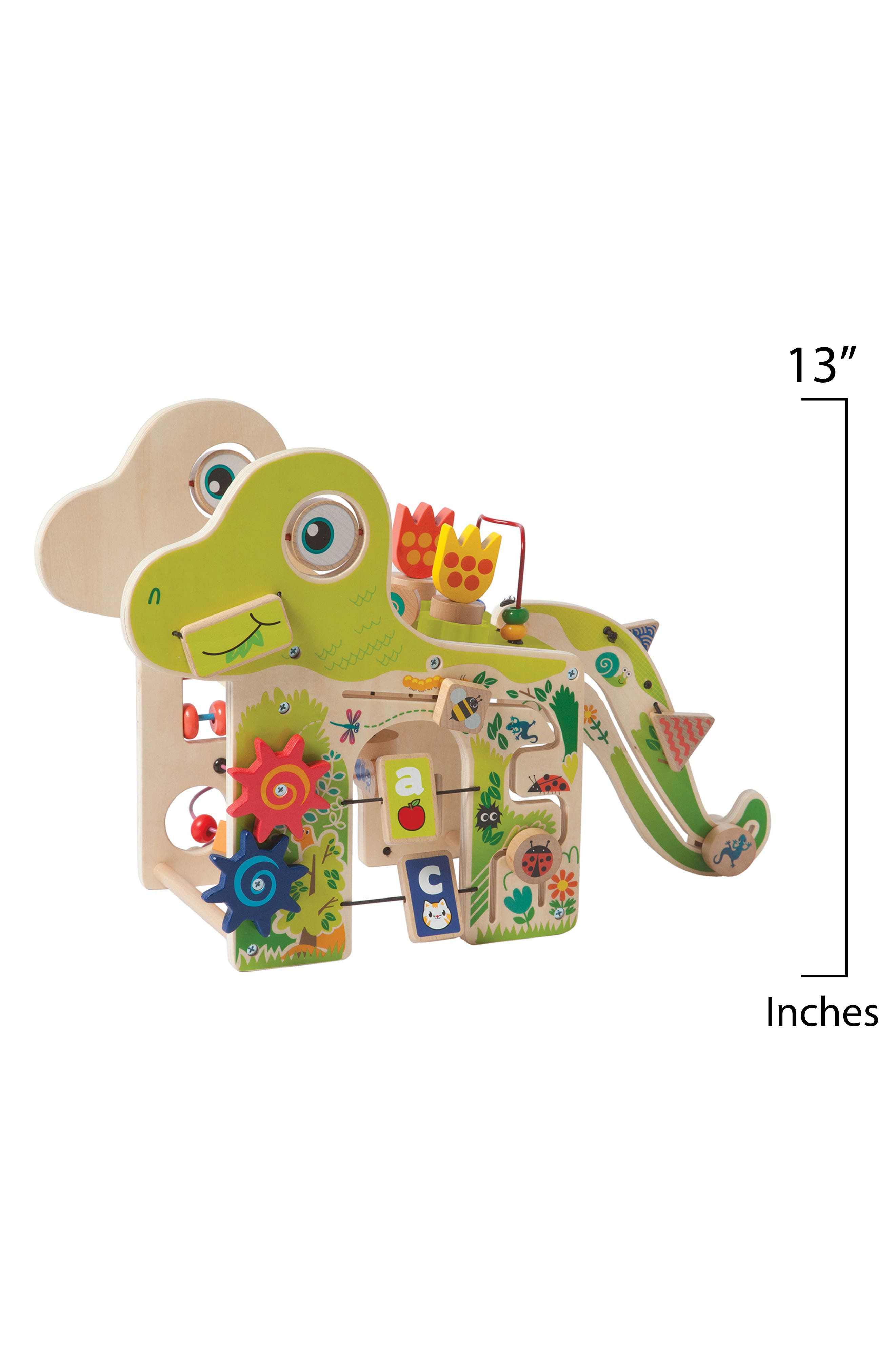 Wooden Playful Dino Activity Center,                             Alternate thumbnail 3, color,                             Green