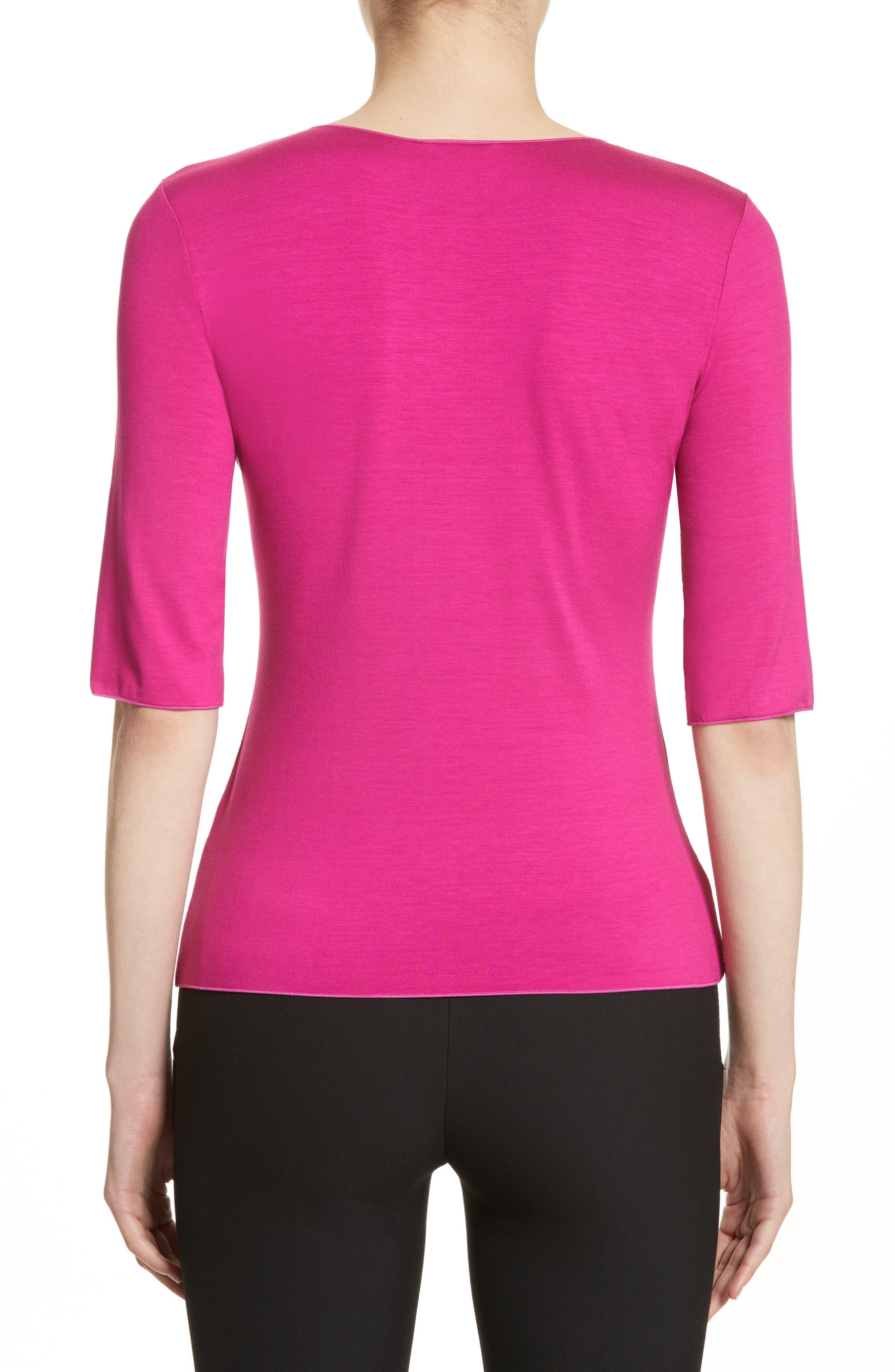 Alternate Image 2  - Armani Collezioni Stretch Jersey Top