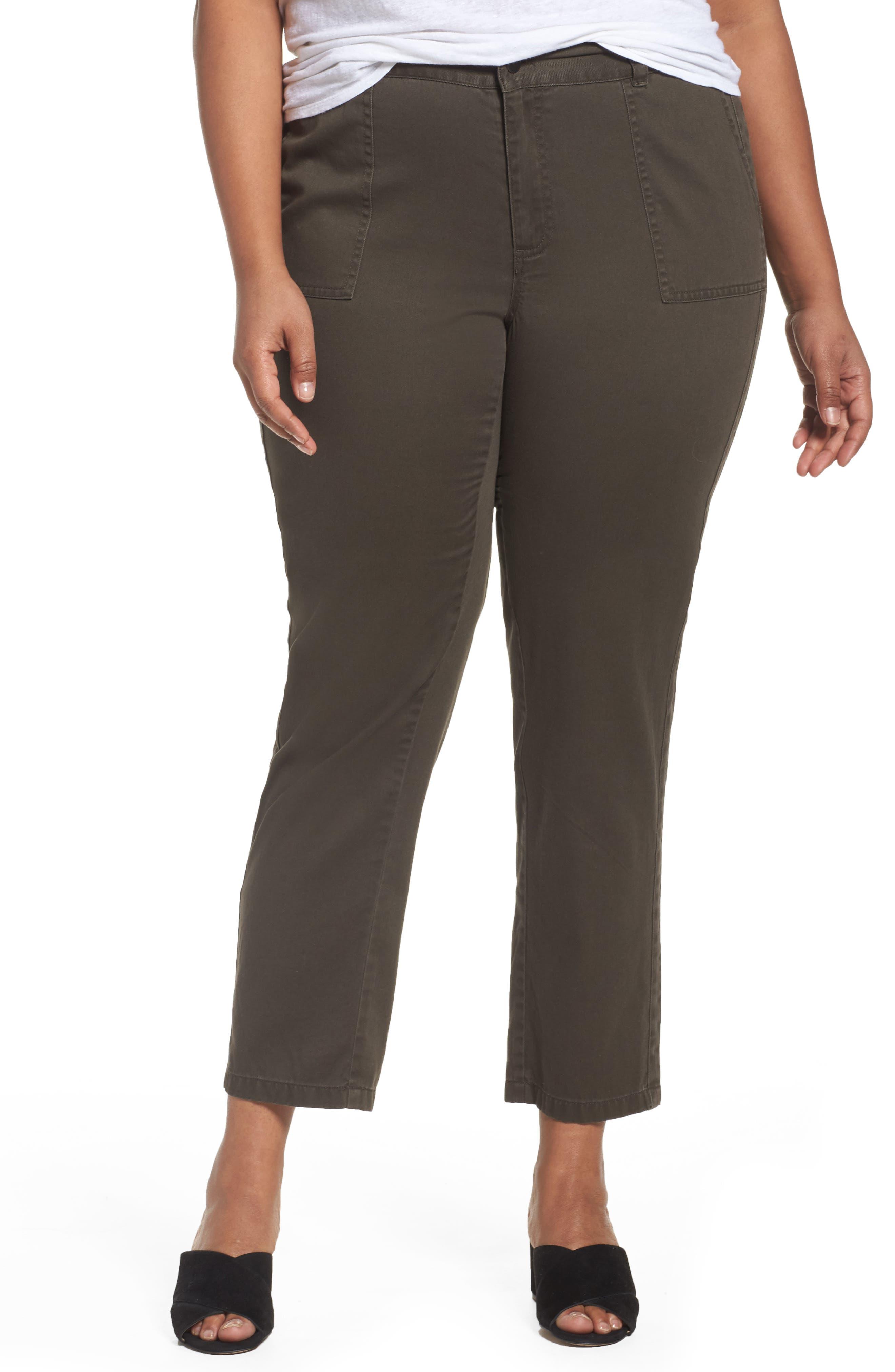 Main Image - Sejour Twill Ankle Pants (Plus Size)