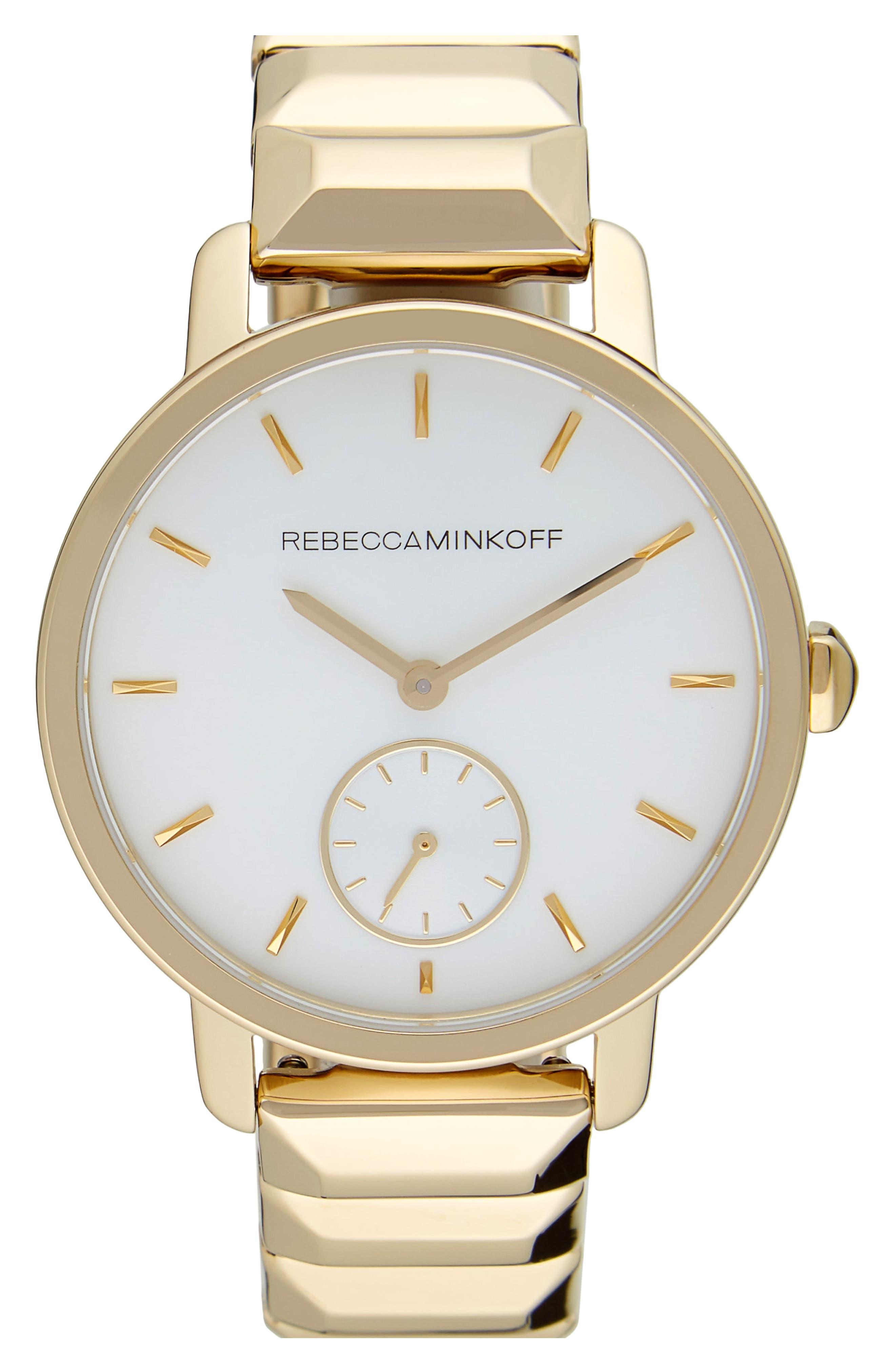 BFFL Bracelet Watch, 36mm,                             Main thumbnail 1, color,                             Gold/ Powder White/ Gold