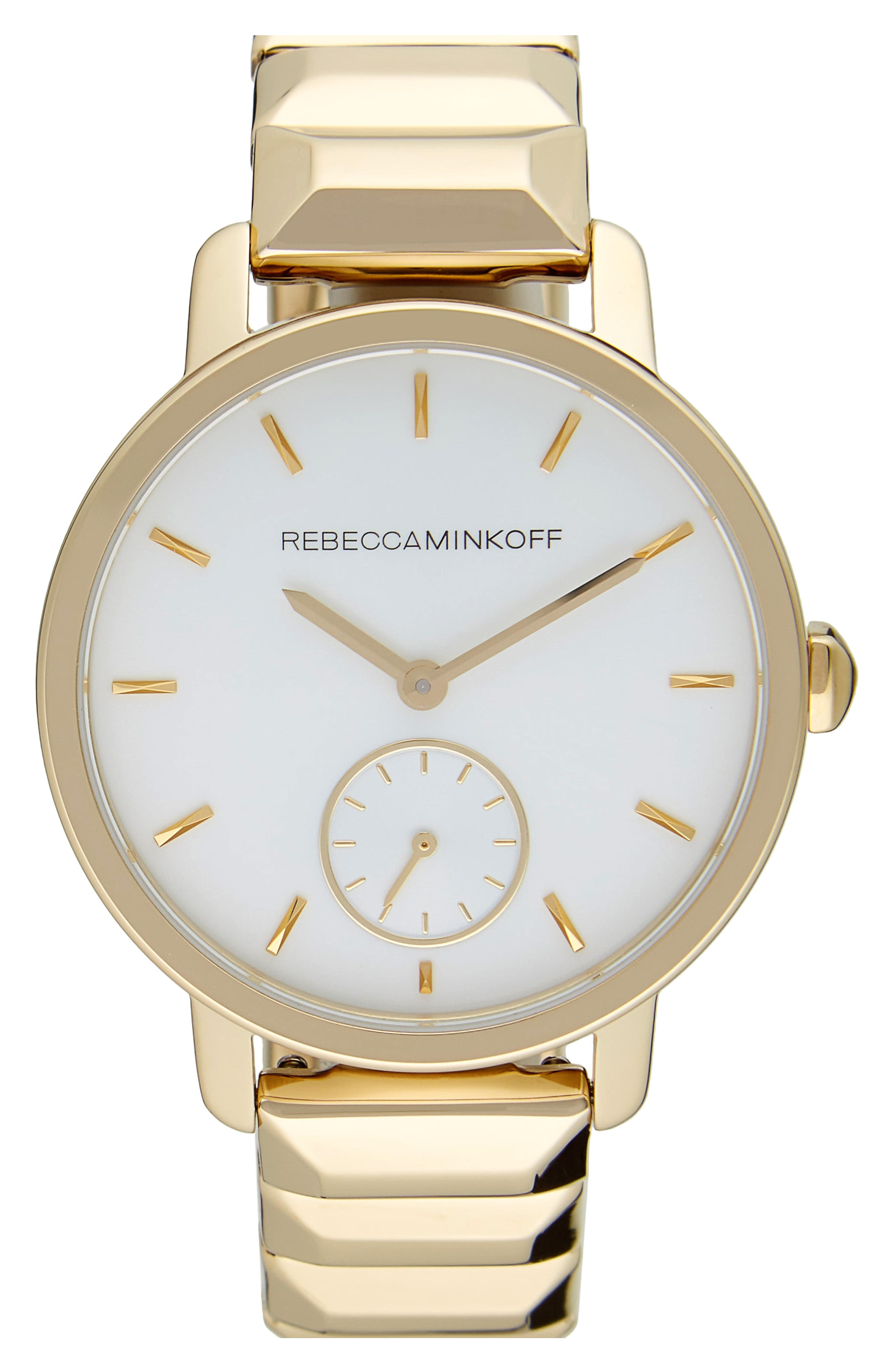 BFFL Bracelet Watch, 36mm,                         Main,                         color, Gold/ Powder White/ Gold