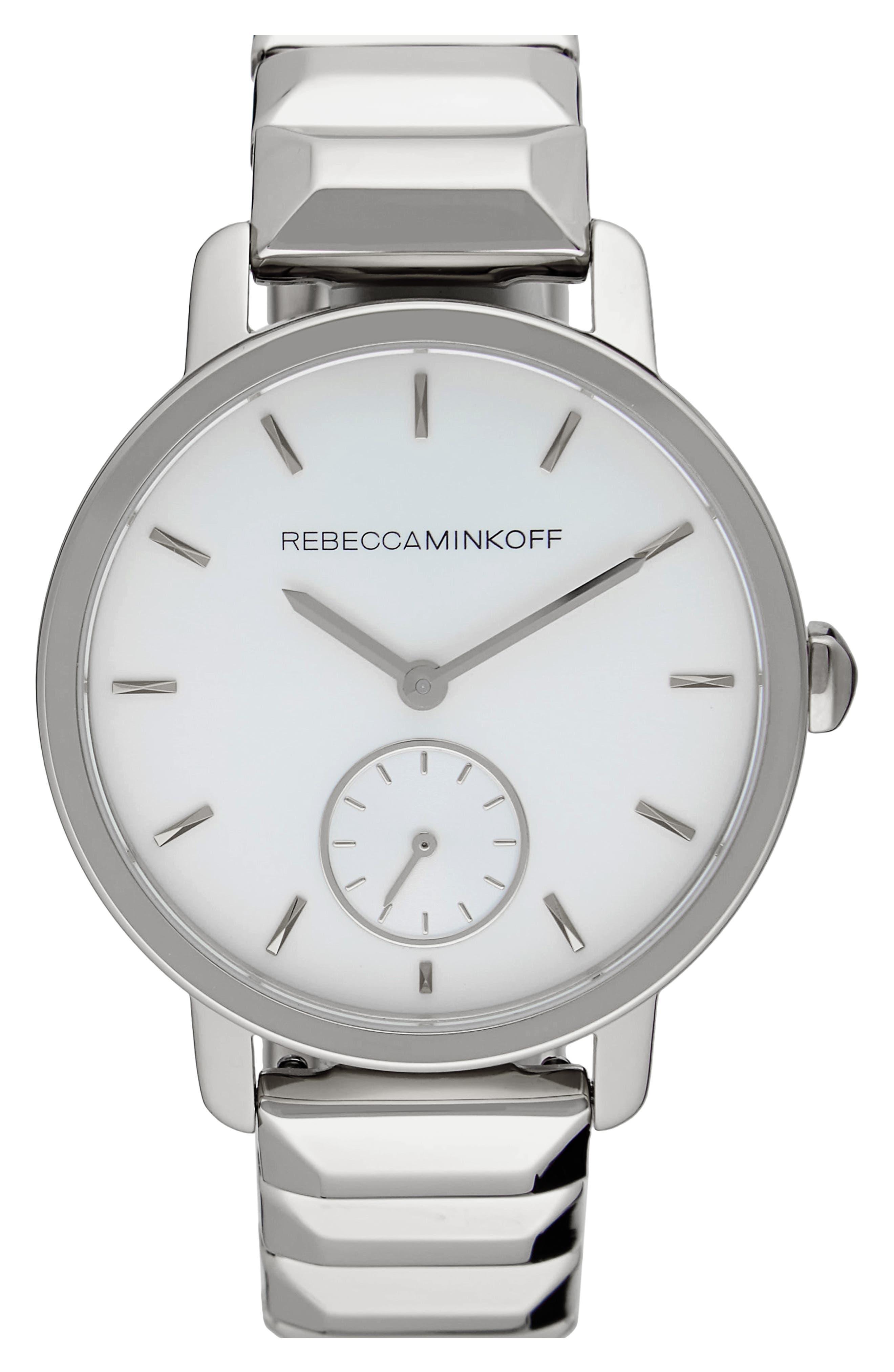BFFL Bracelet Watch, 36mm,                         Main,                         color, Silver/ Blush/ Silver