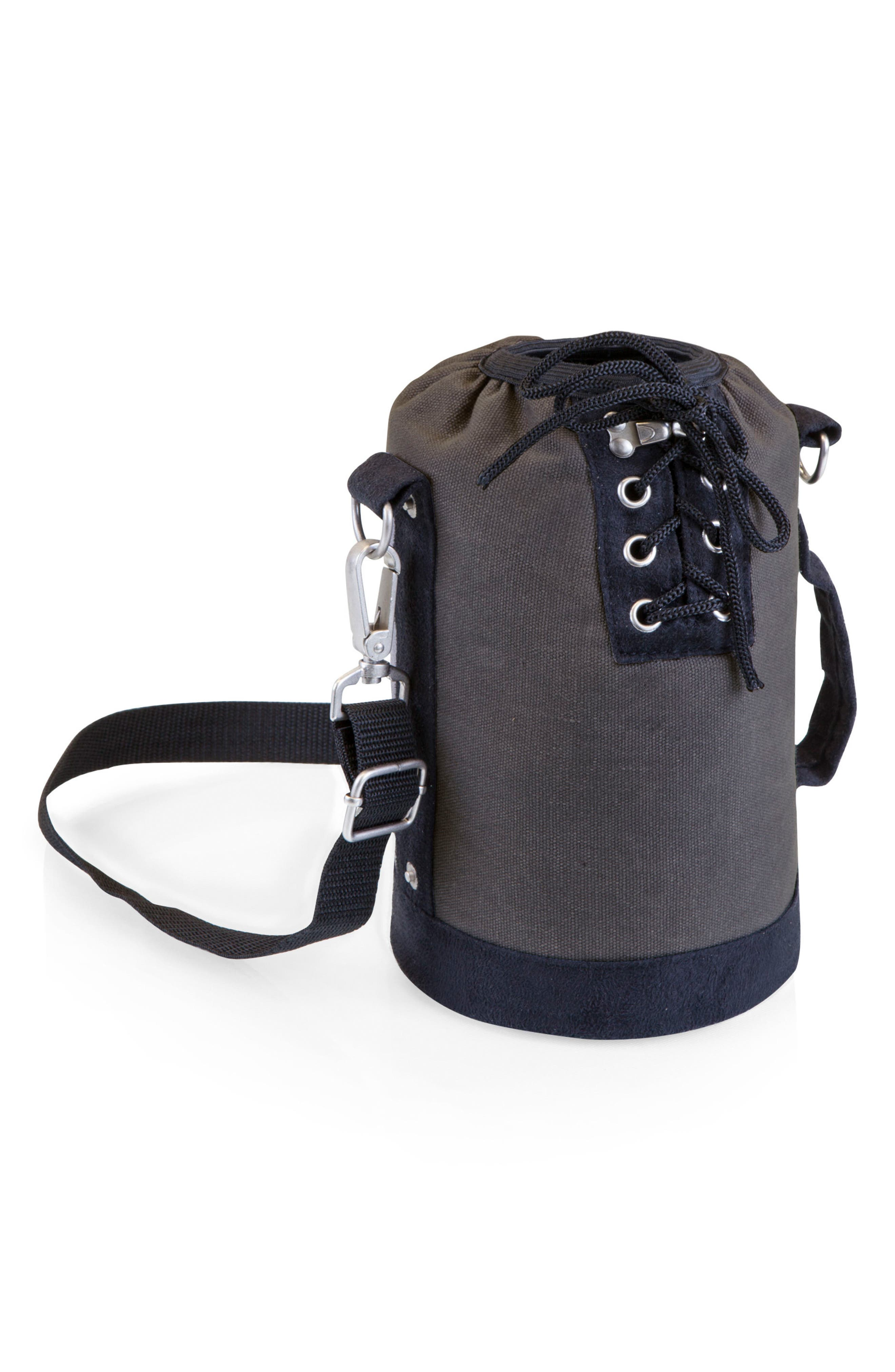 Insulated Growler Tote,                             Main thumbnail 1, color,                             Grey W/ Black