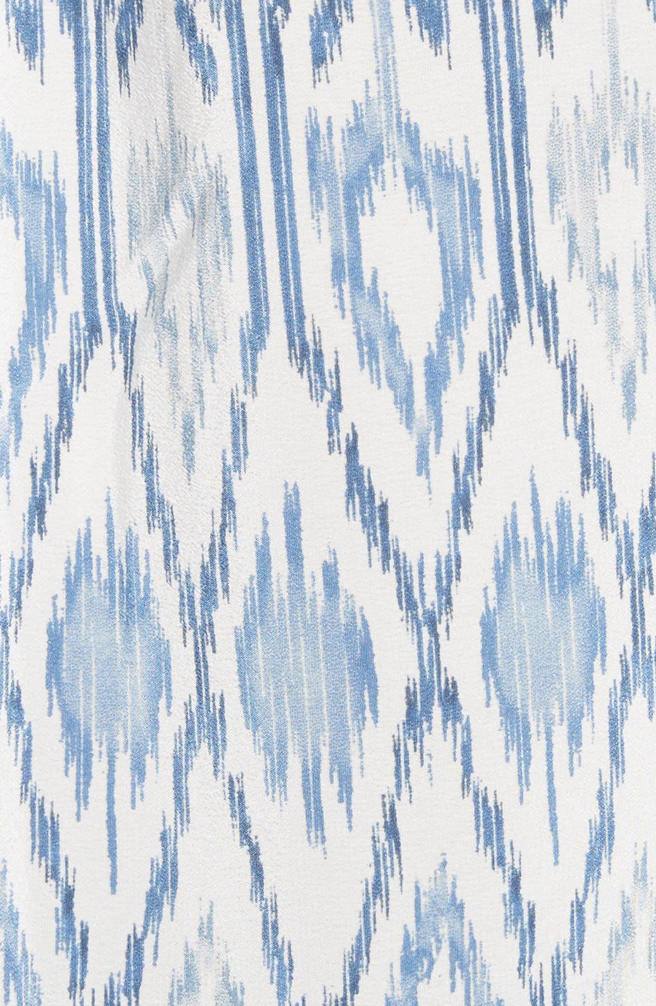 Lorette Silk Blouse,                             Alternate thumbnail 5, color,                             Sailor Blue