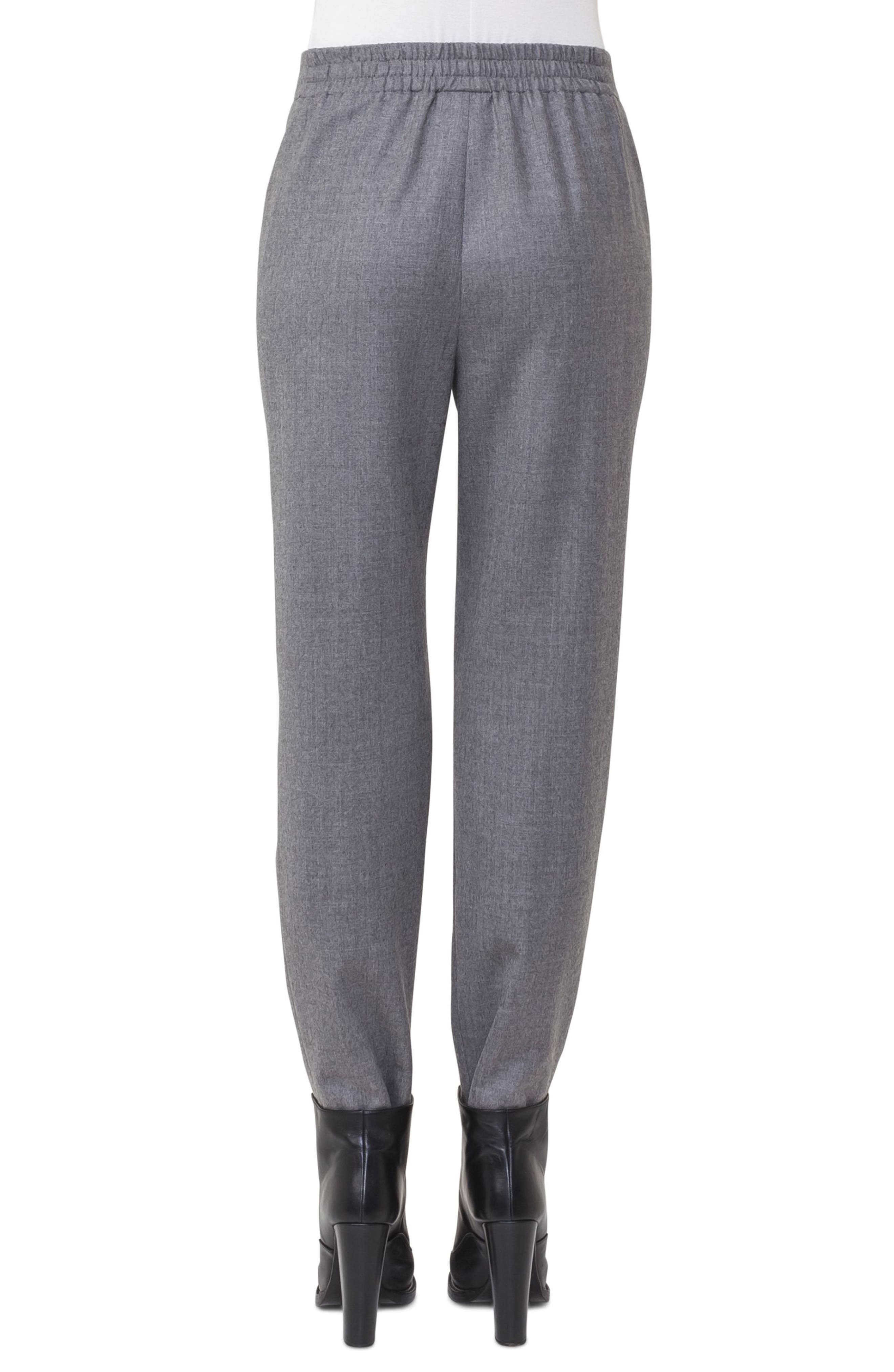 Fiola Wool Slouch Pants,                             Alternate thumbnail 2, color,                             Stone