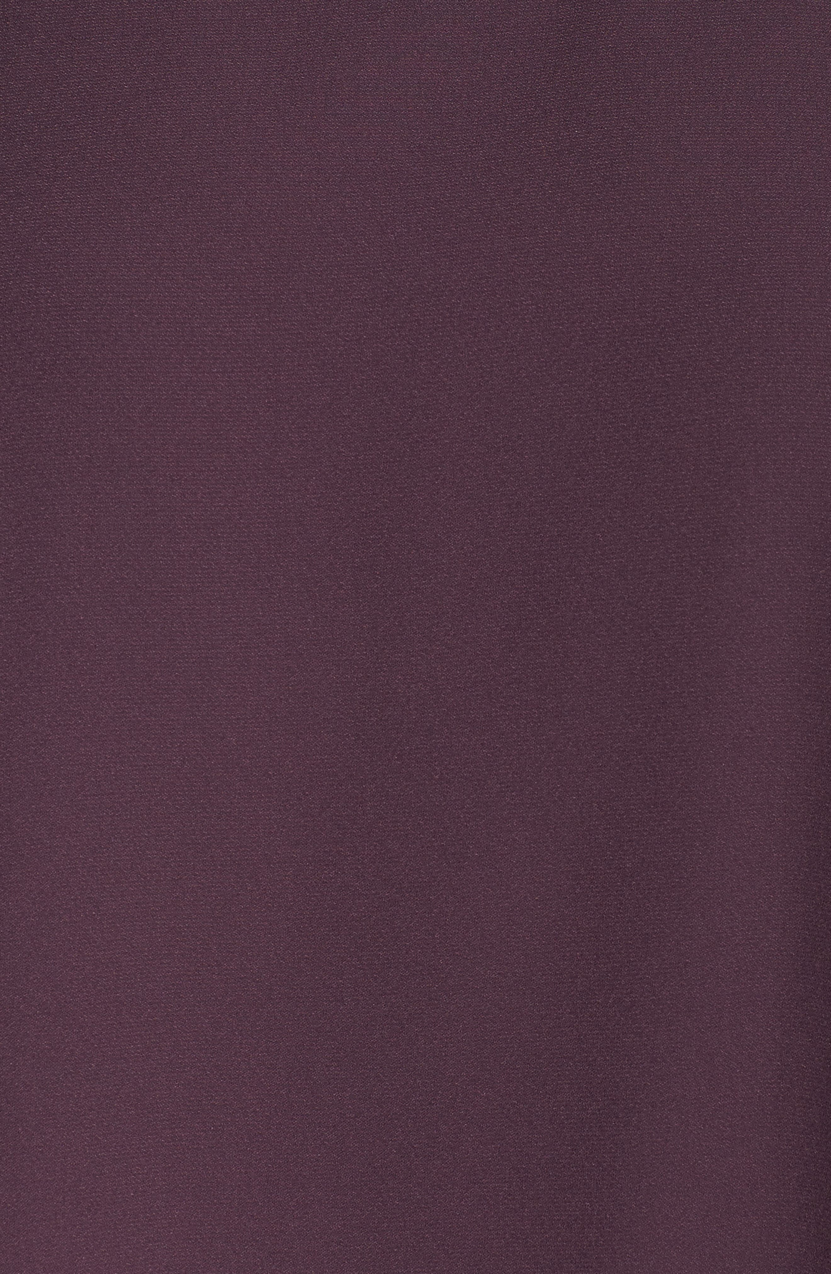 Cold Shoulder Swing Dress,                             Alternate thumbnail 5, color,                             Purple Plum