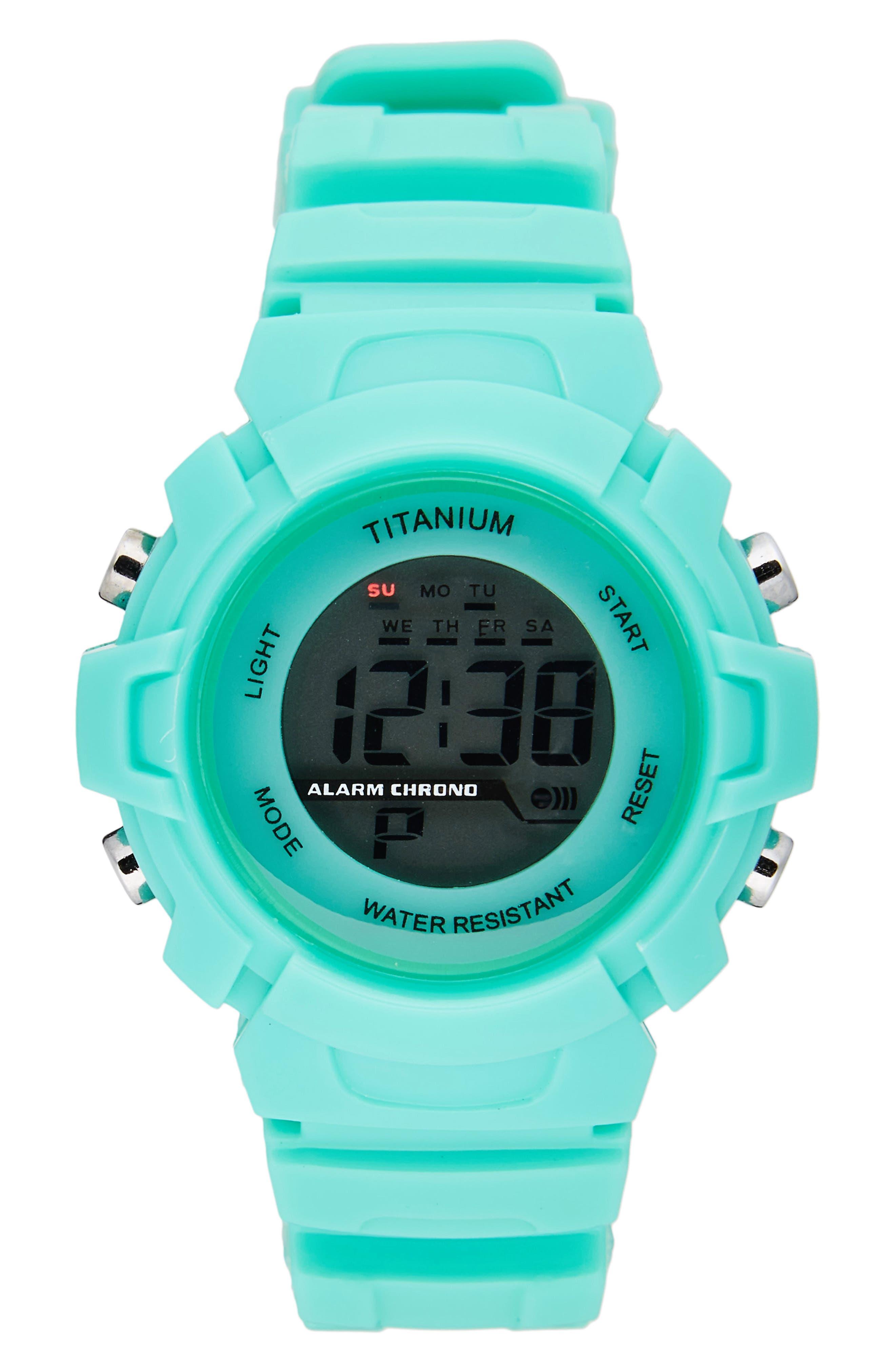 TITANIUM LCD Waterproof Sport Watch