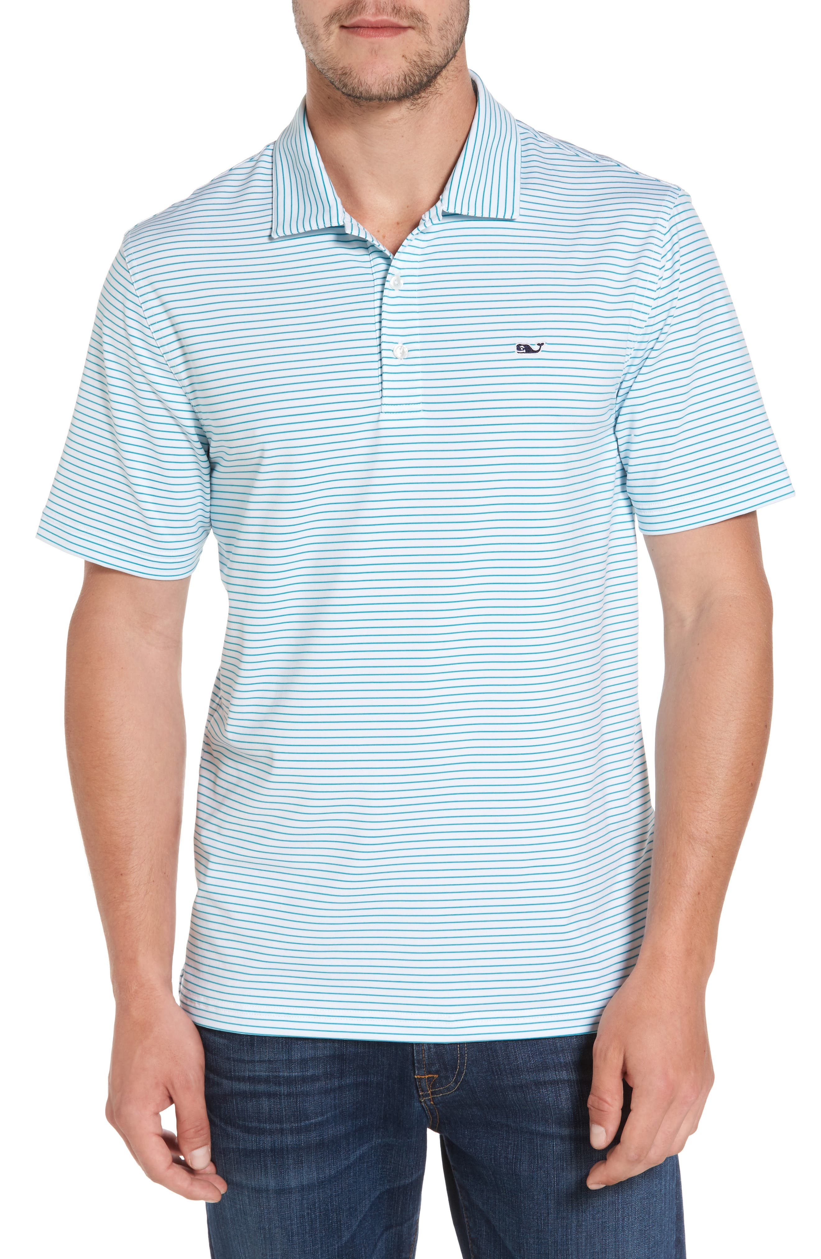 Vineyard Vines 'Wilson' Stripe Jersey Polo