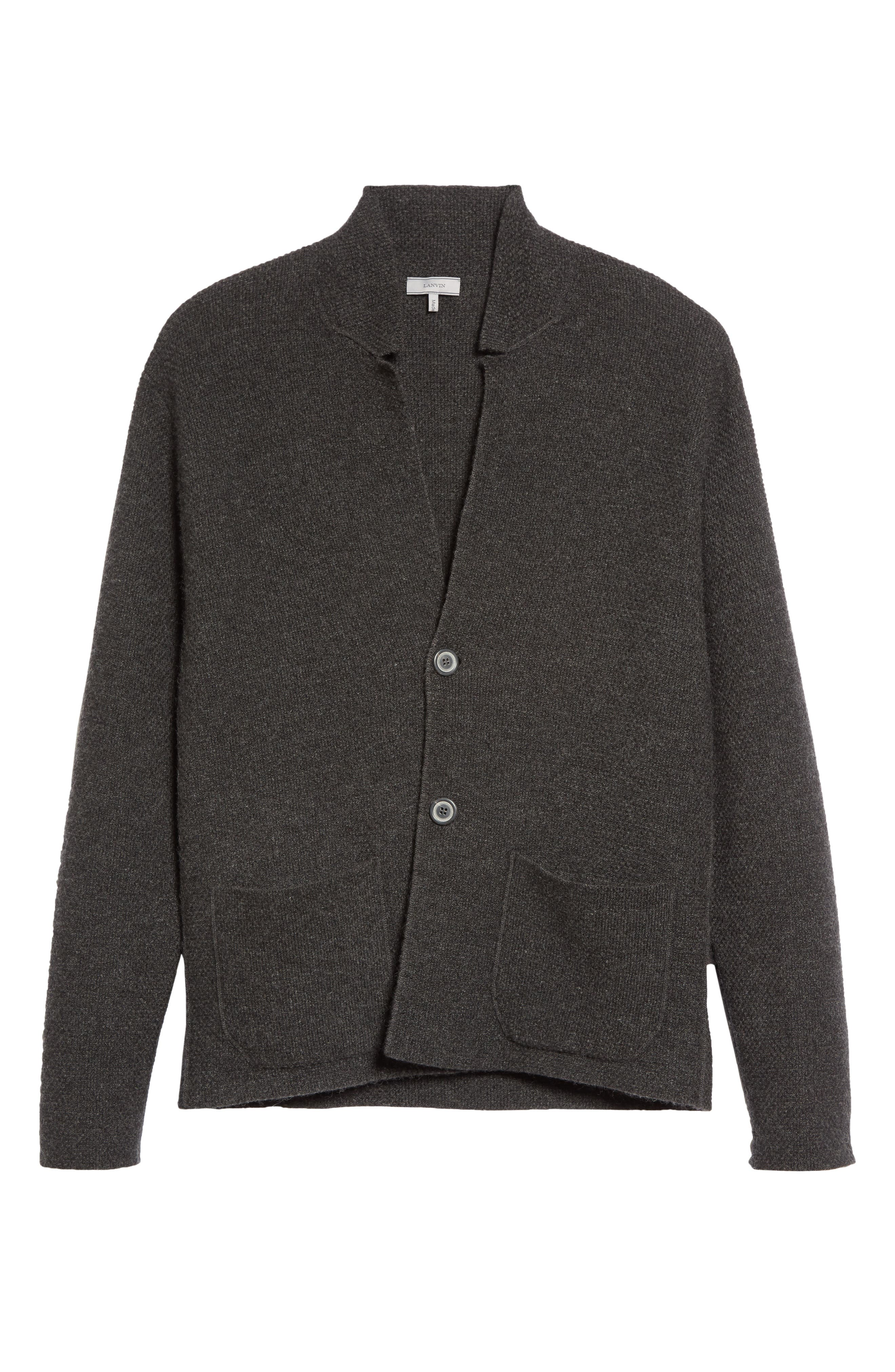 Cashmere Sweater Jacket,                             Alternate thumbnail 6, color,                             Anthracite