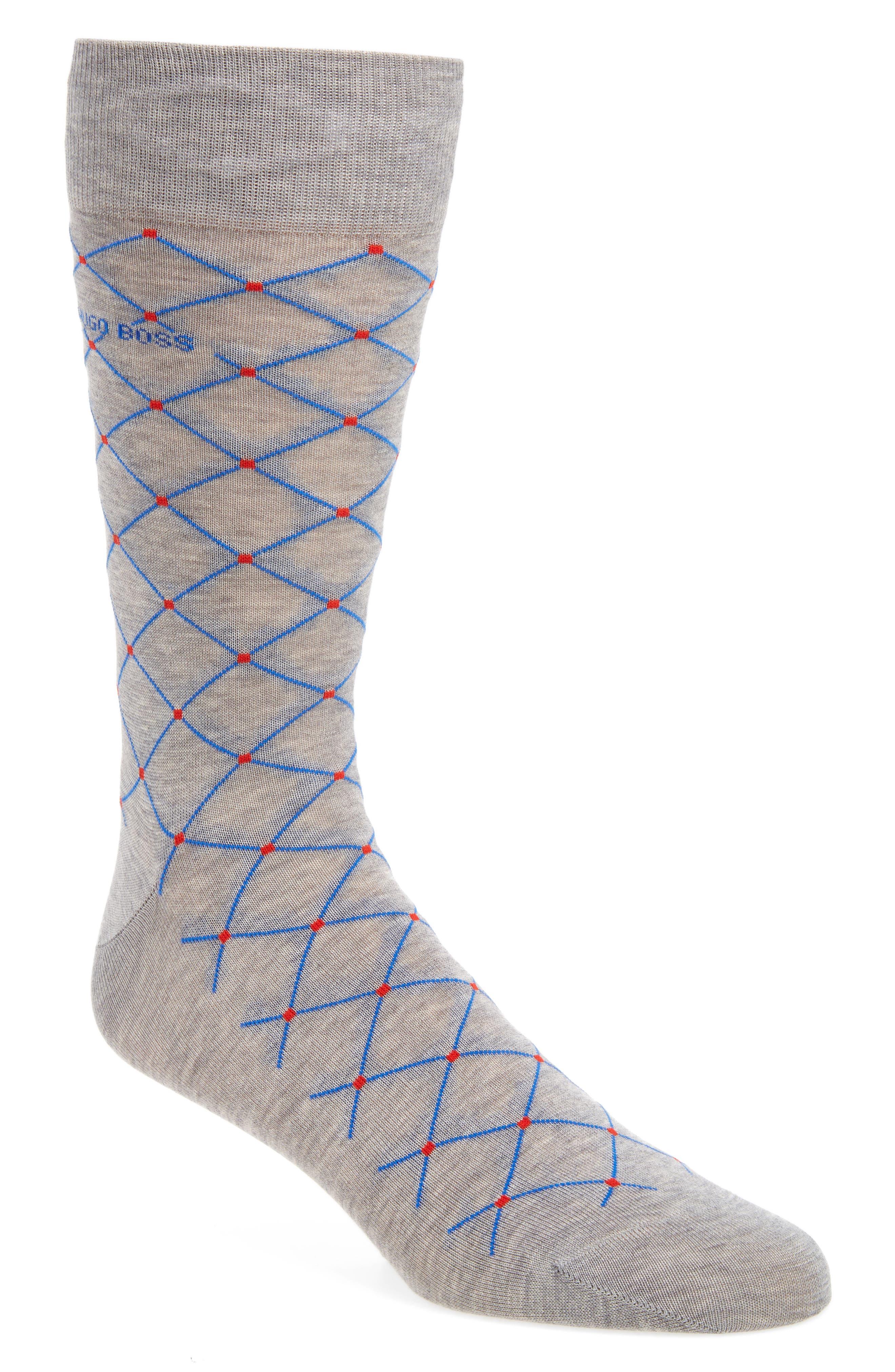 BOSS RS Design Modern Argyle Socks